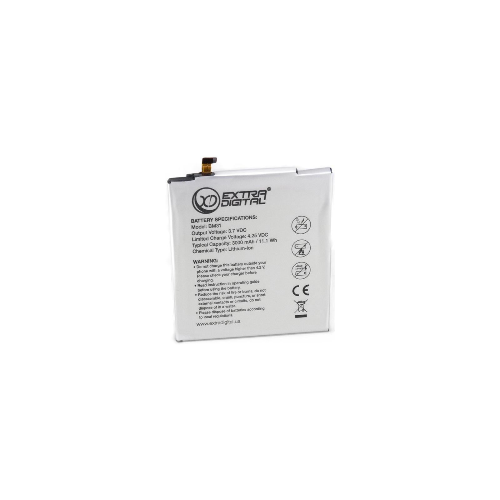 Акумуляторна батарея для телефону EXTRADIGITAL Xiaomi Mi3 (BM31) 3000 mAh (BMX6444)
