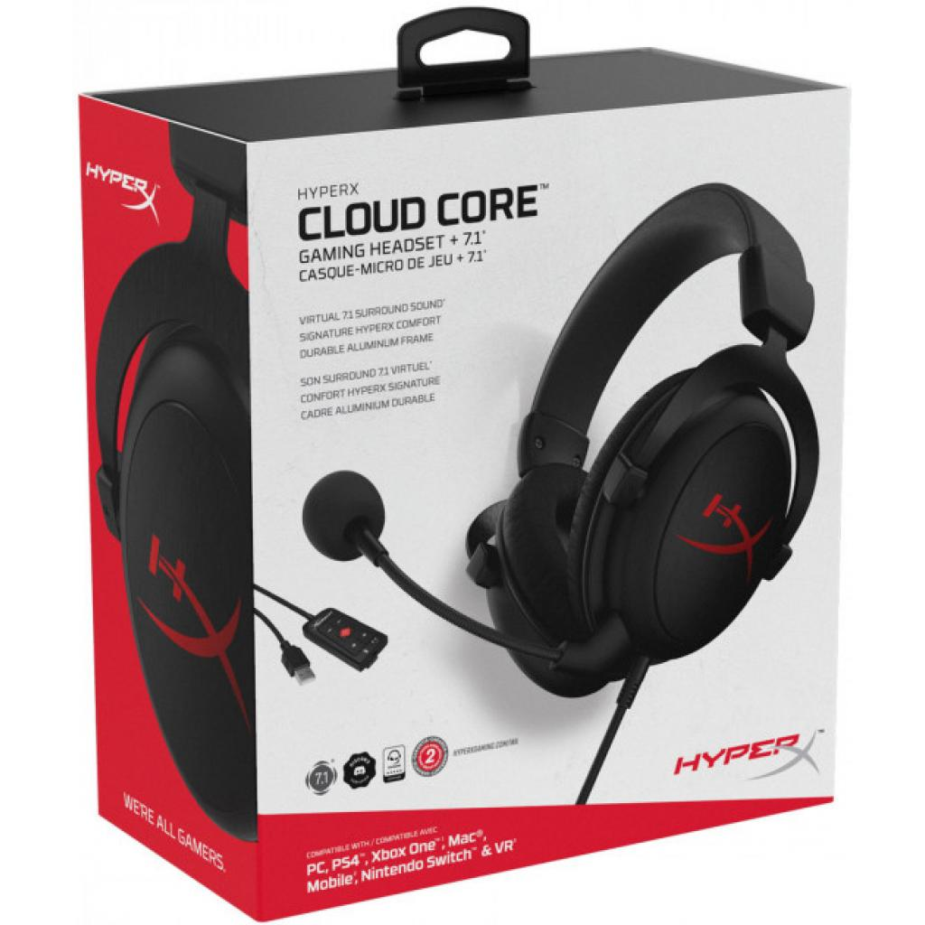 Навушники HyperX Cloud Core 7.1 Black (HX-HSCC-2-BK/WW) зображення 6