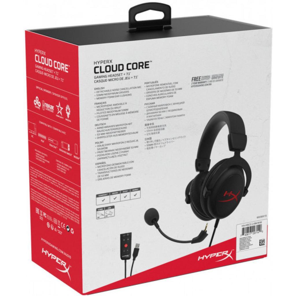 Навушники HyperX Cloud Core 7.1 Black (HX-HSCC-2-BK/WW) зображення 7