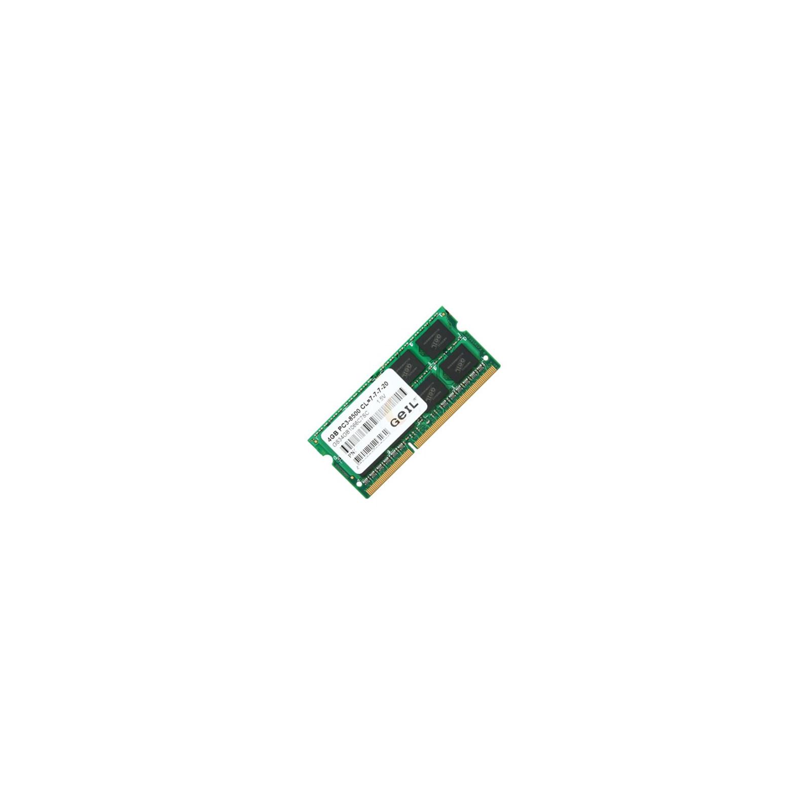 Модуль памяти для ноутбука SoDIMM DDR3 4GB 1066 MHz GEIL (GS34GB1066C7SC)
