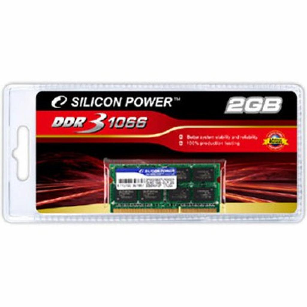 Модуль памяти для ноутбука SoDIMM DDR3 2GB 1066 MHz Silicon Power (SP002GBSTU106V02)