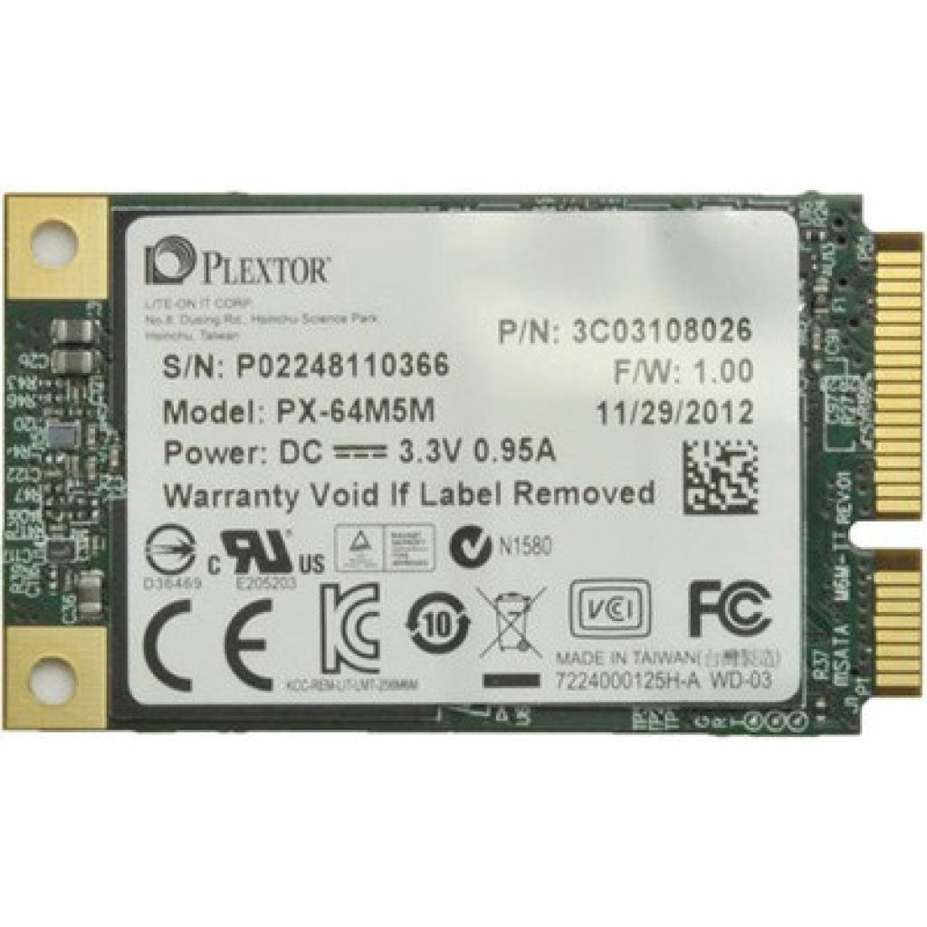 Накопитель SSD mSATA 64GB Plextor (PX-64M5M)