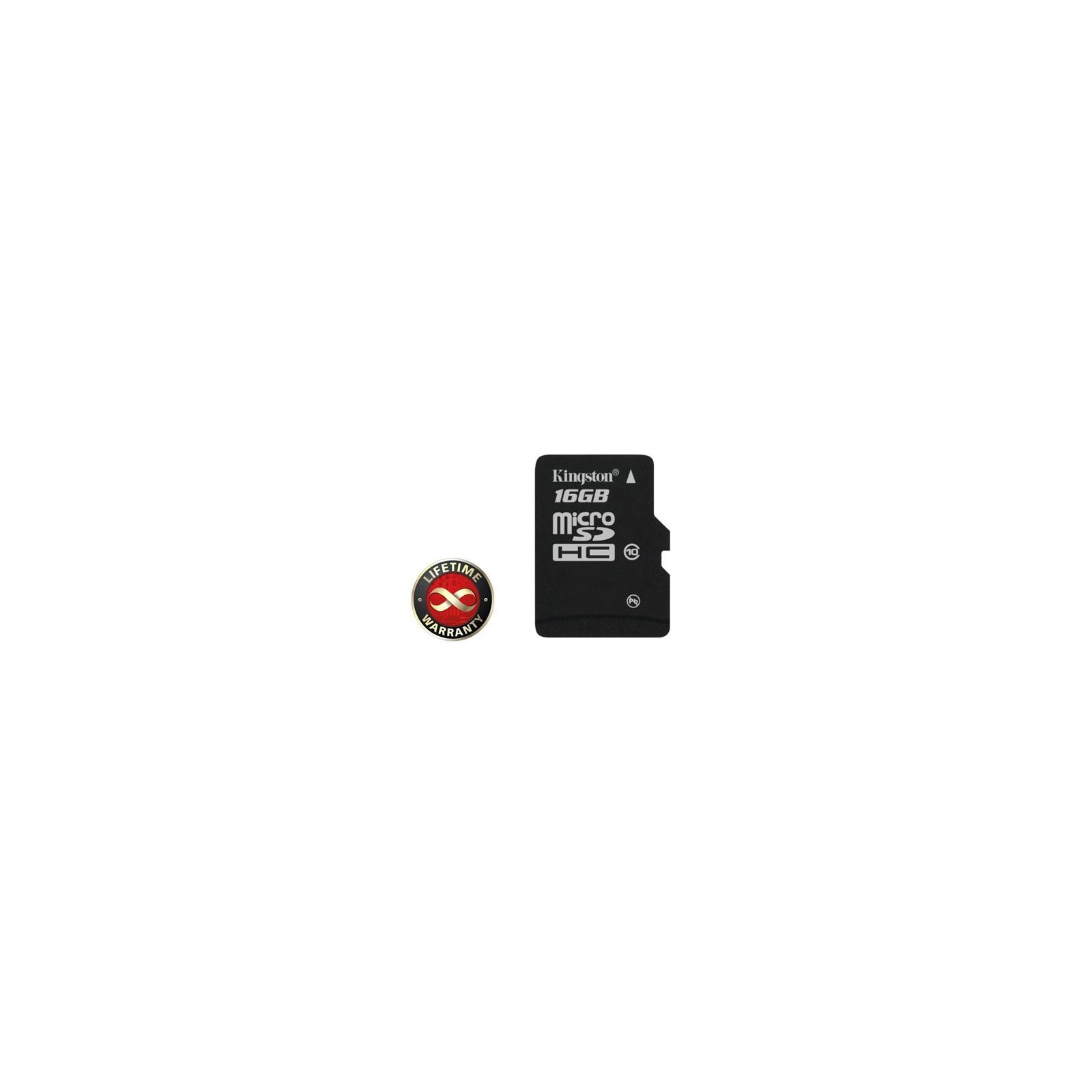 Карта памяти Kingston 16Gb microSDHC class 10 (SDC10/16GBSP)
