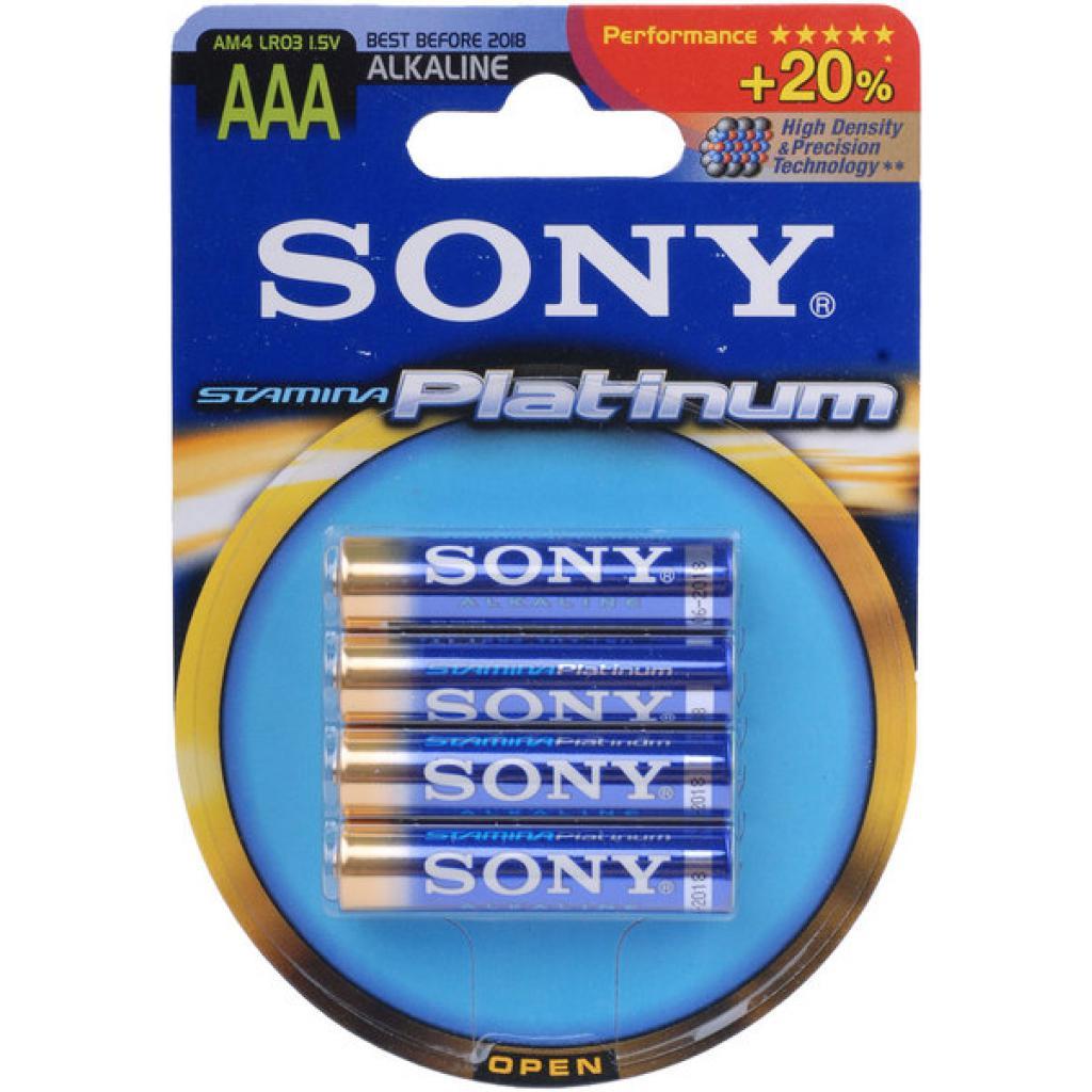 Батарейка SONY LR03 SONY Samina Platinum * 4 (AM4PTB4D)