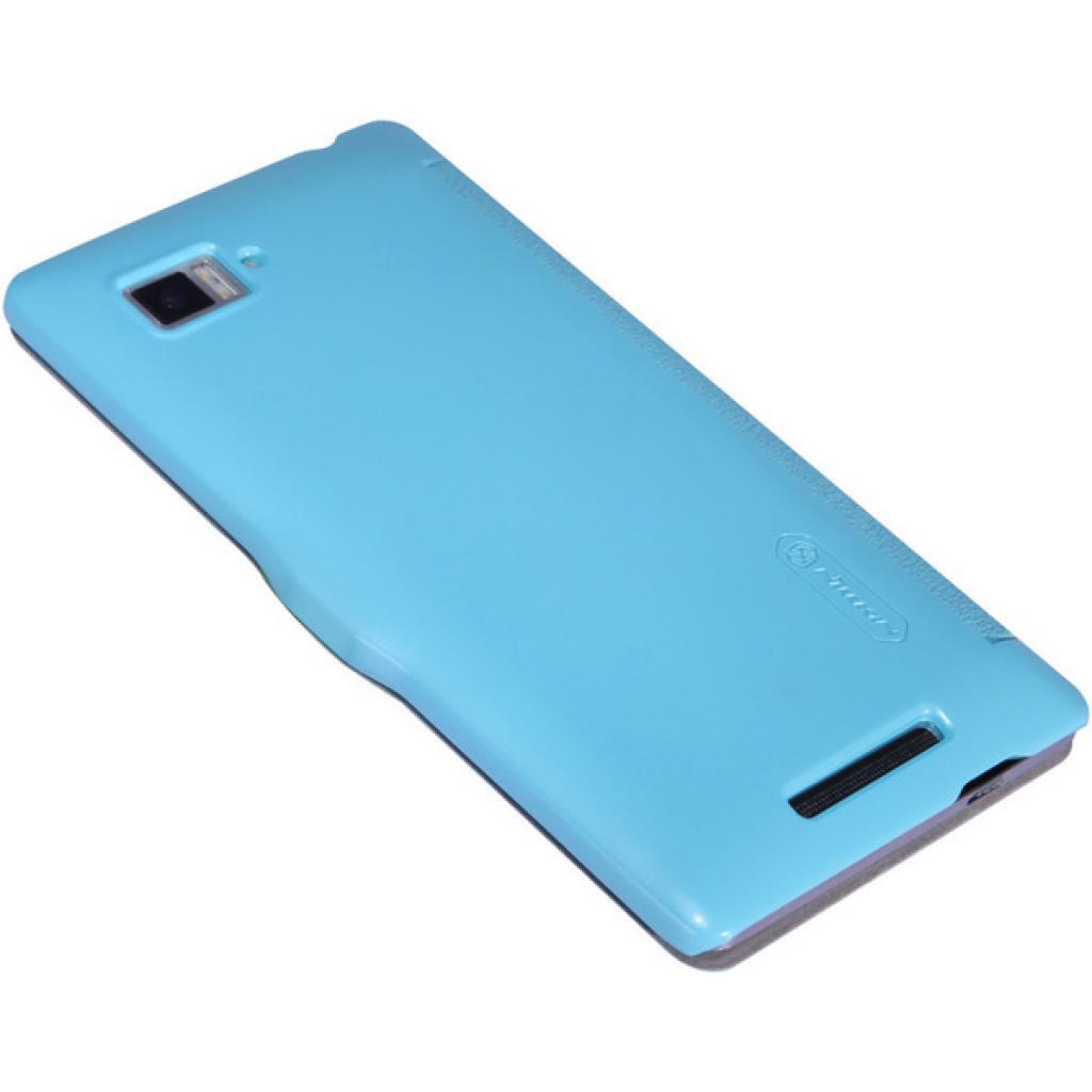 Чехол для моб. телефона NILLKIN для Lenovo K910 /Fresh/ Leather/Blue (6120378) изображение 3