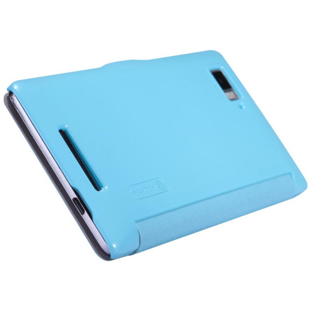 Чехол для моб. телефона NILLKIN для Lenovo K910 /Fresh/ Leather/Blue (6120378) изображение 4