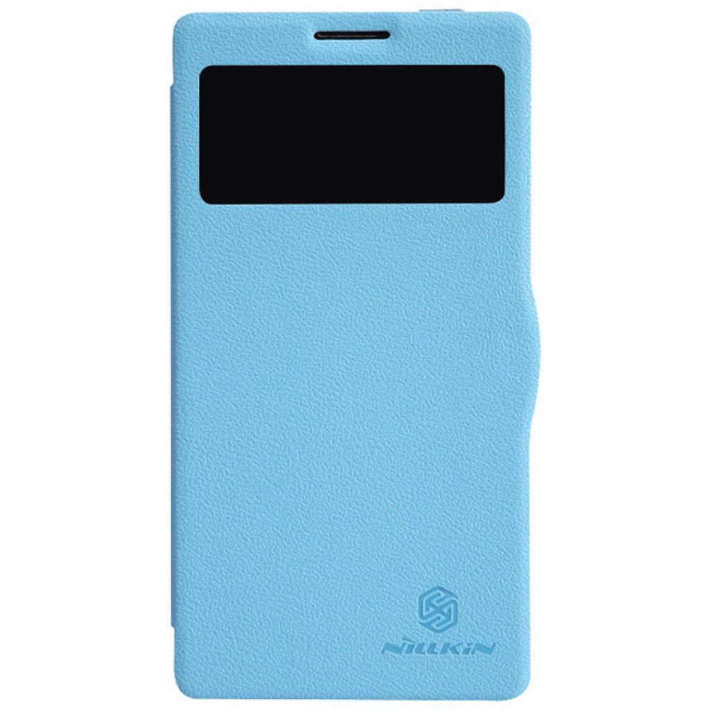 Чехол для моб. телефона NILLKIN для Lenovo K910 /Fresh/ Leather/Blue (6120378)