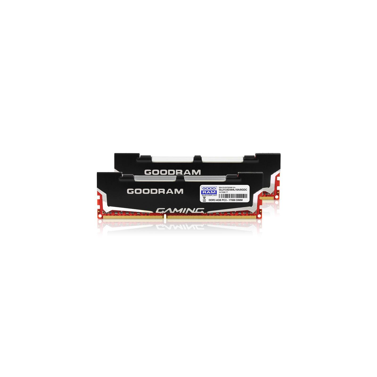 Модуль памяти для компьютера DDR3 8Gb (2x4GB) 2133 MHz Led Gaming GOODRAM (GL2133D364L10A/8GDC) изображение 3