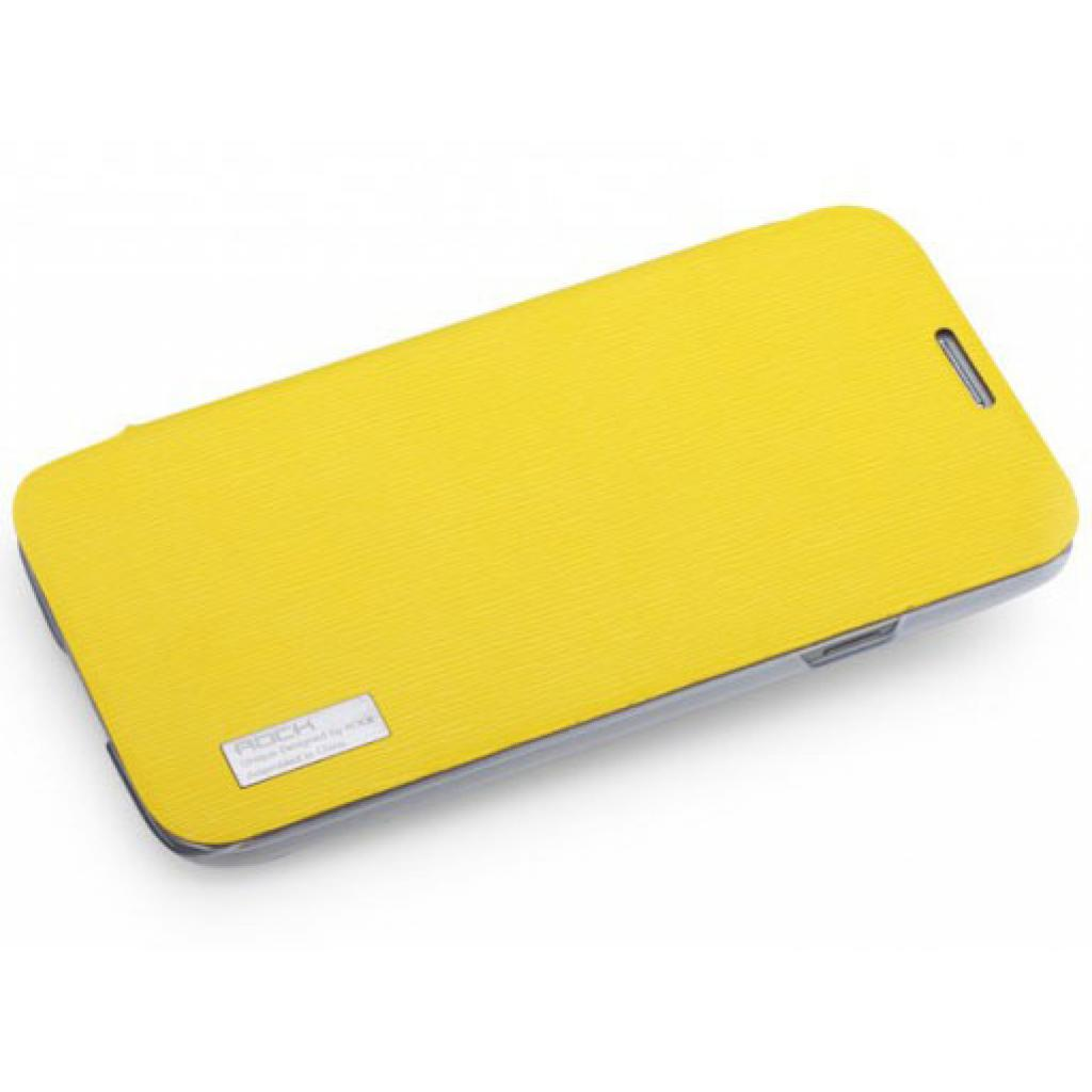Чехол для моб. телефона Rock Samsung Galaxy Mega 6.3 new elegant series lemon yellow (I9200-30095)
