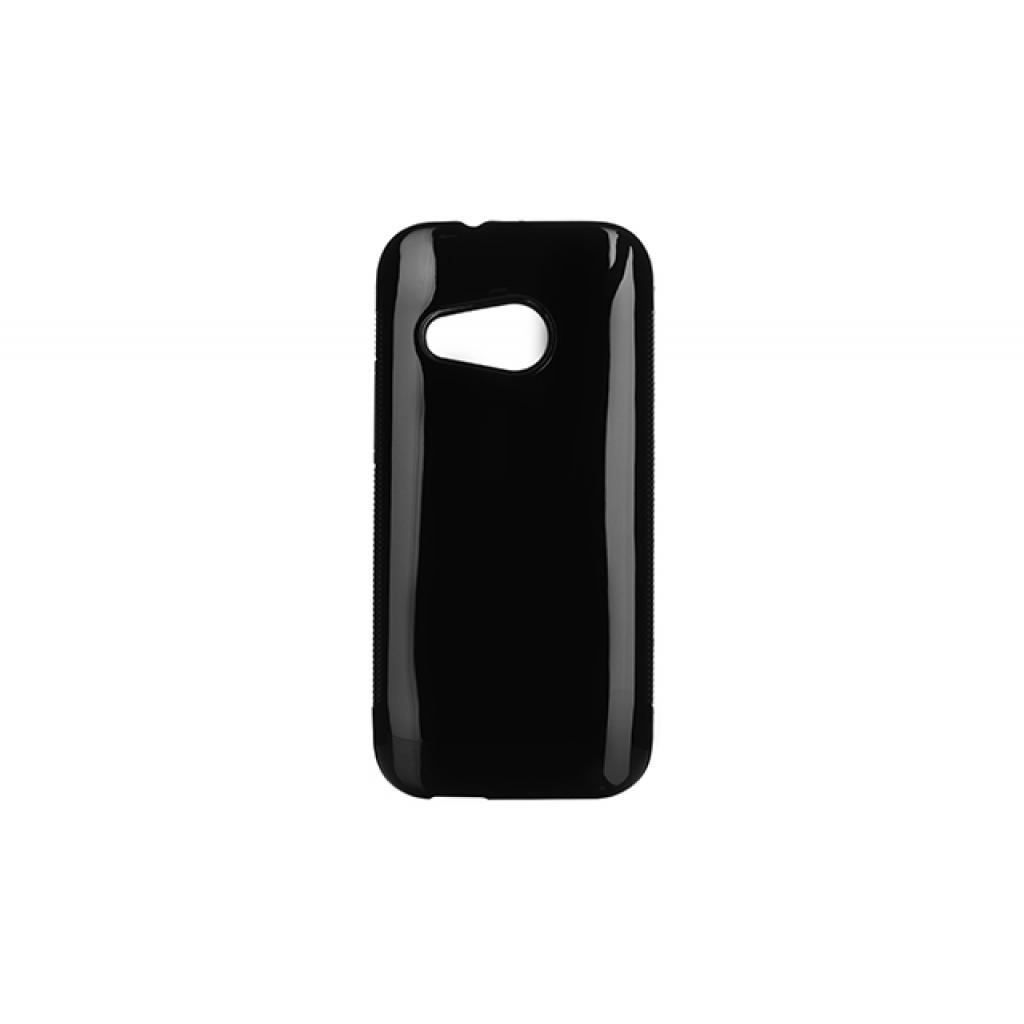 Чехол для моб. телефона Drobak для HTC One M8 Mini Black /Elastic PU (218892)