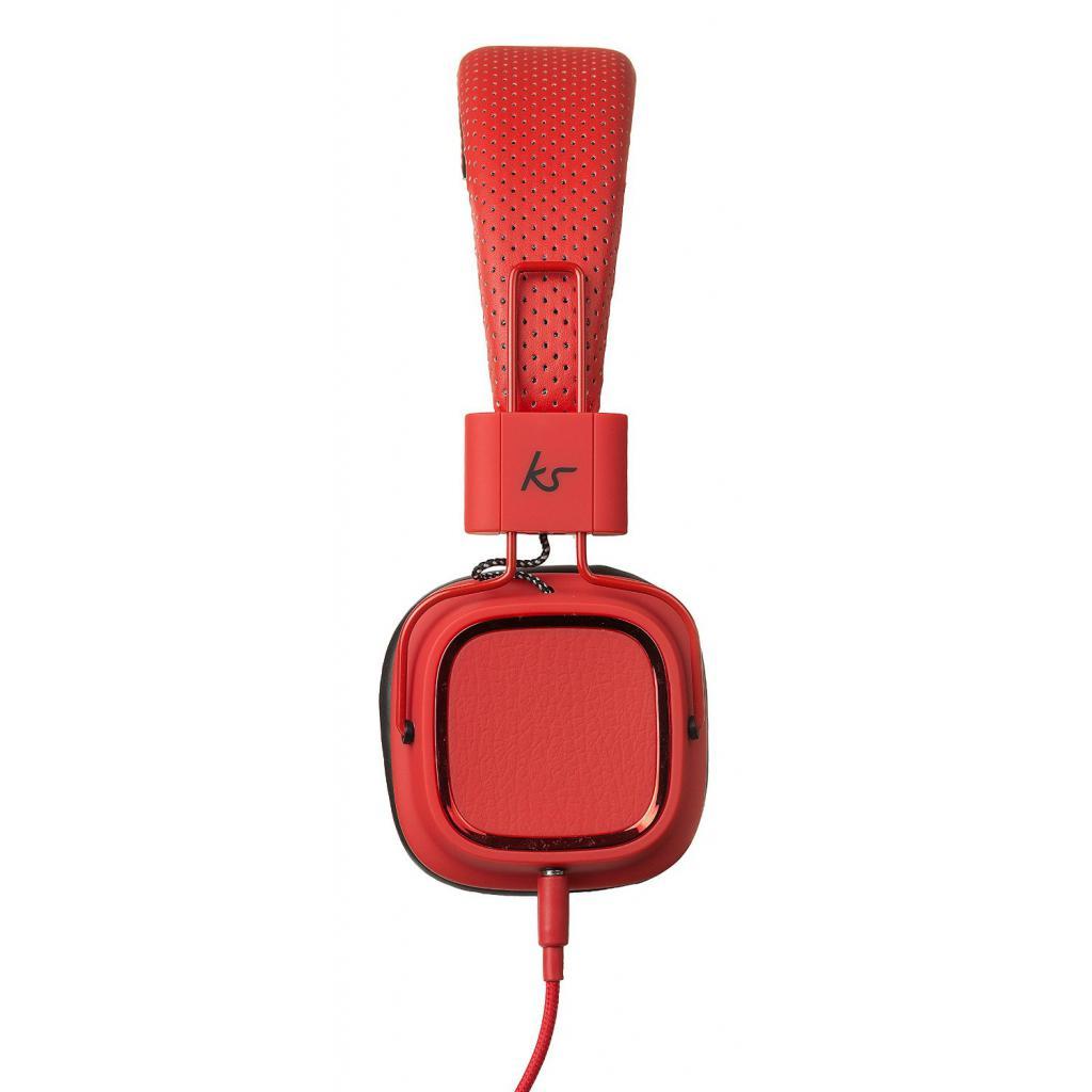 Наушники KitSound KS Clash On-Ear Headphones with In-line Mic (Red) (KSCLARD) изображение 2