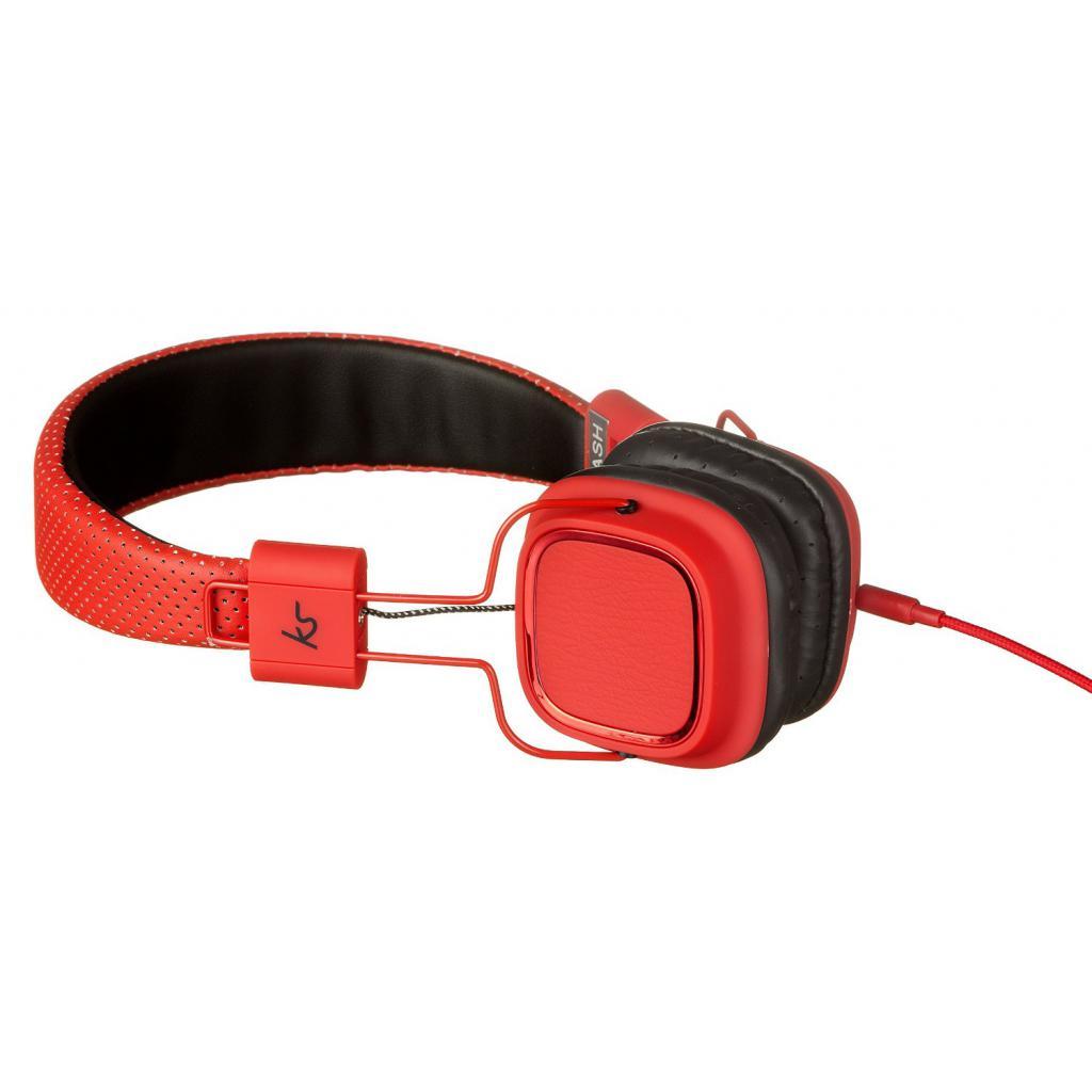 Наушники KitSound KS Clash On-Ear Headphones with In-line Mic (Red) (KSCLARD) изображение 3