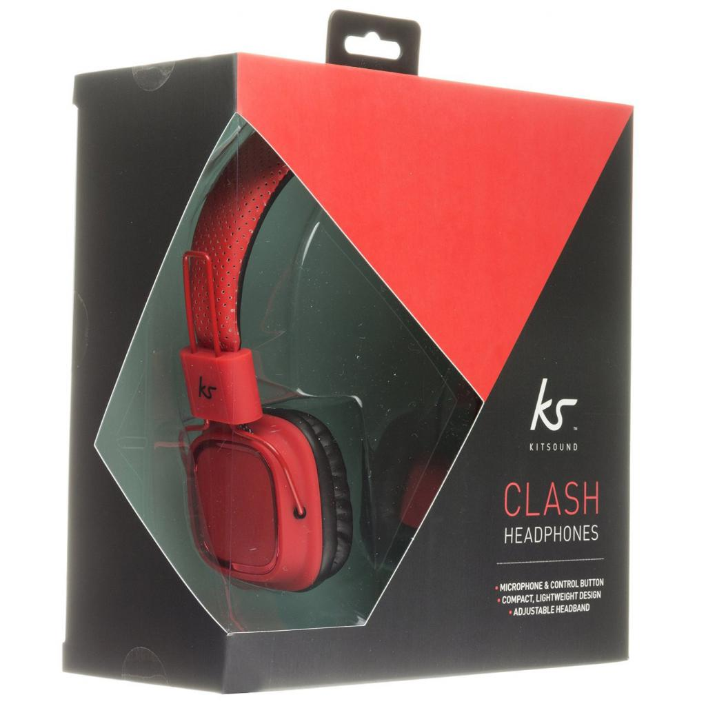 Наушники KitSound KS Clash On-Ear Headphones with In-line Mic (Red) (KSCLARD) изображение 5