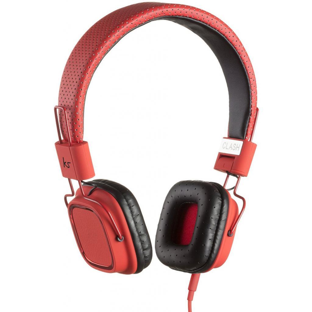 Наушники KitSound KS Clash On-Ear Headphones with In-line Mic (Red) (KSCLARD)