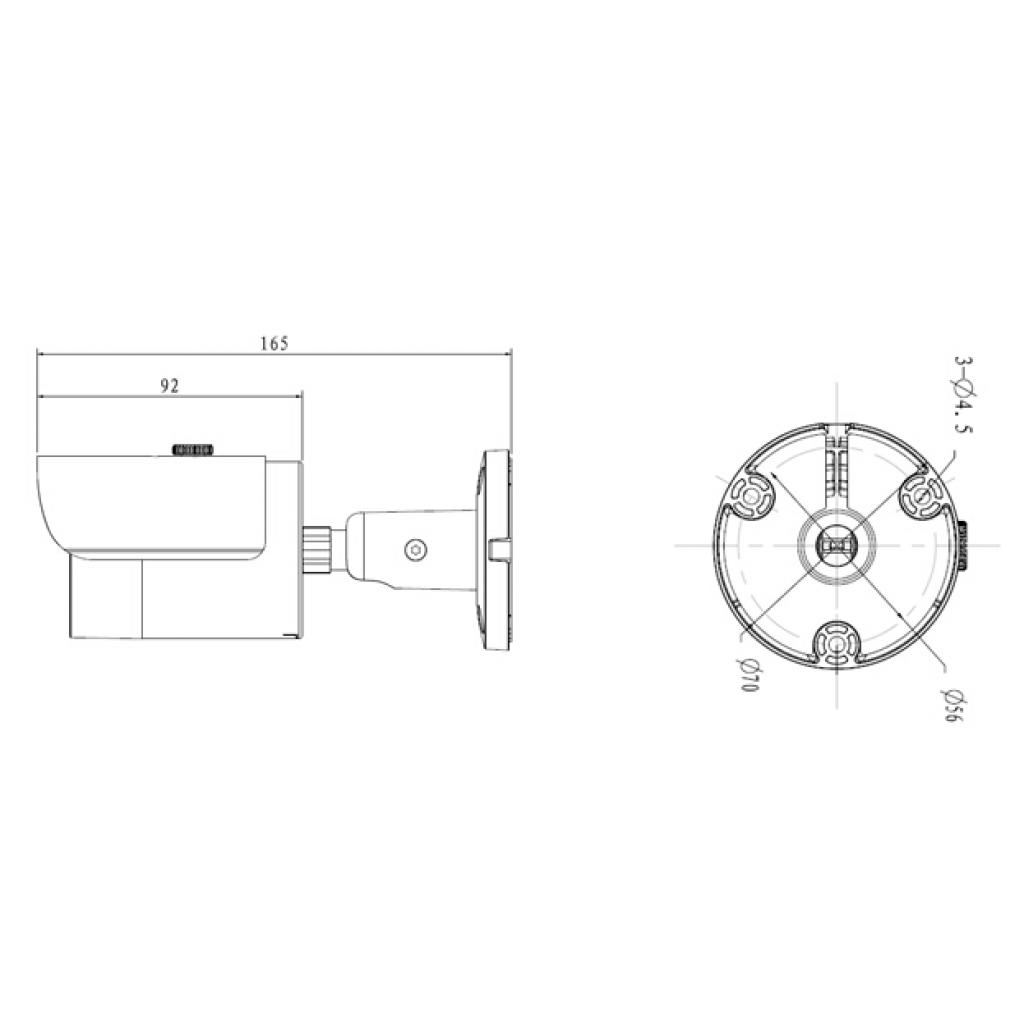 Камера видеонаблюдения Dahua DH-IPC-HFW1120S (gray) (03192-04619) изображение 2