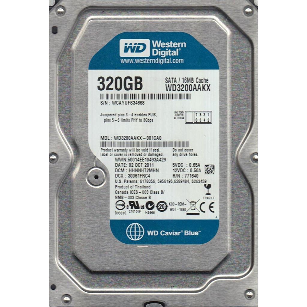 "Жесткий диск 3.5""  320Gb WD (# WD3200AAKX-FR #)"