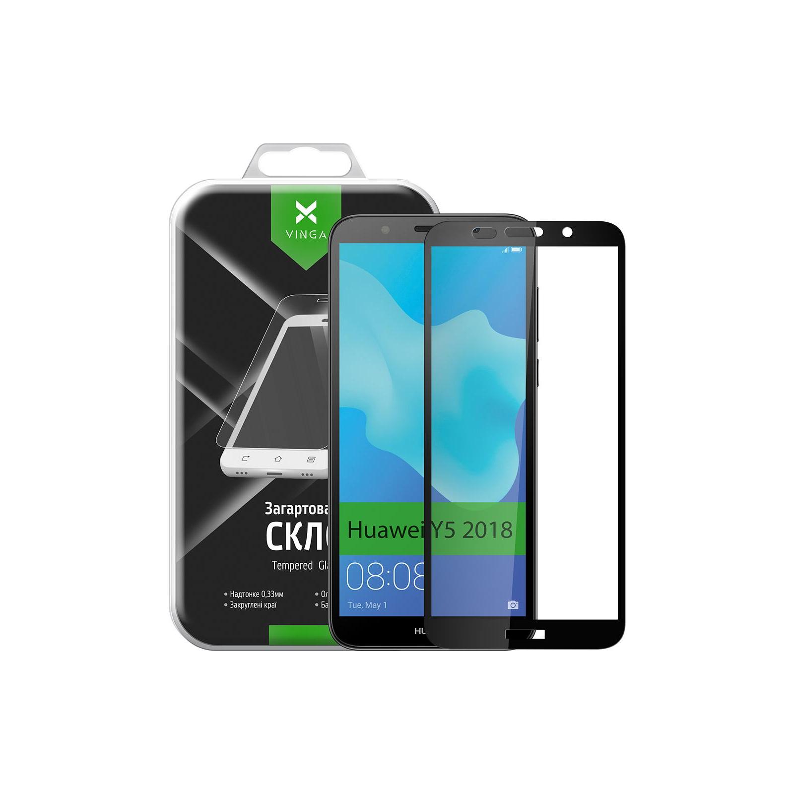 Стекло защитное Vinga для Huawei Y5 2018 (Black) (VTPGS-Y52018) изображение 10