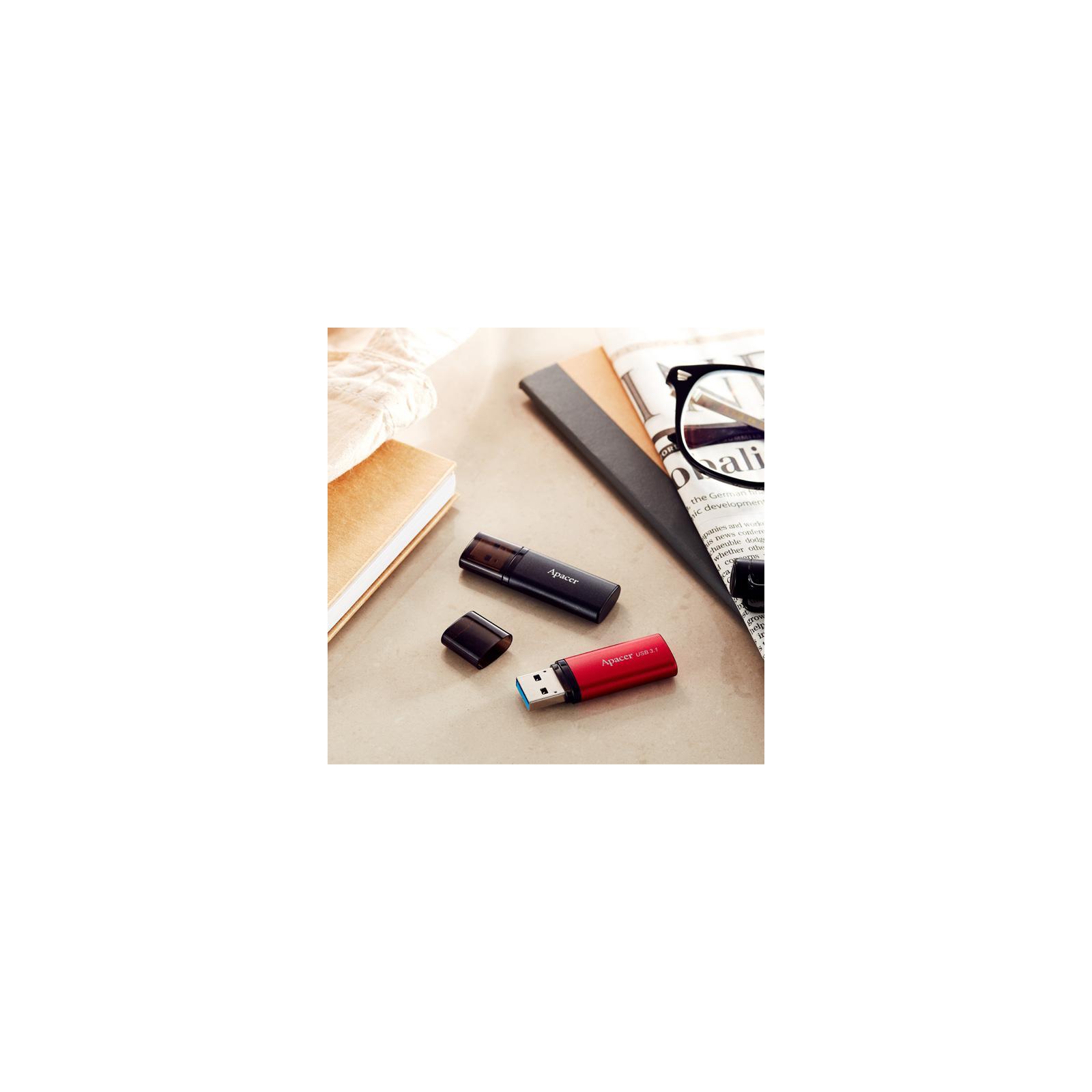 USB флеш накопитель Apacer 128GB AH25B Red USB 3.1 Gen1 (AP128GAH25BR-1) изображение 5