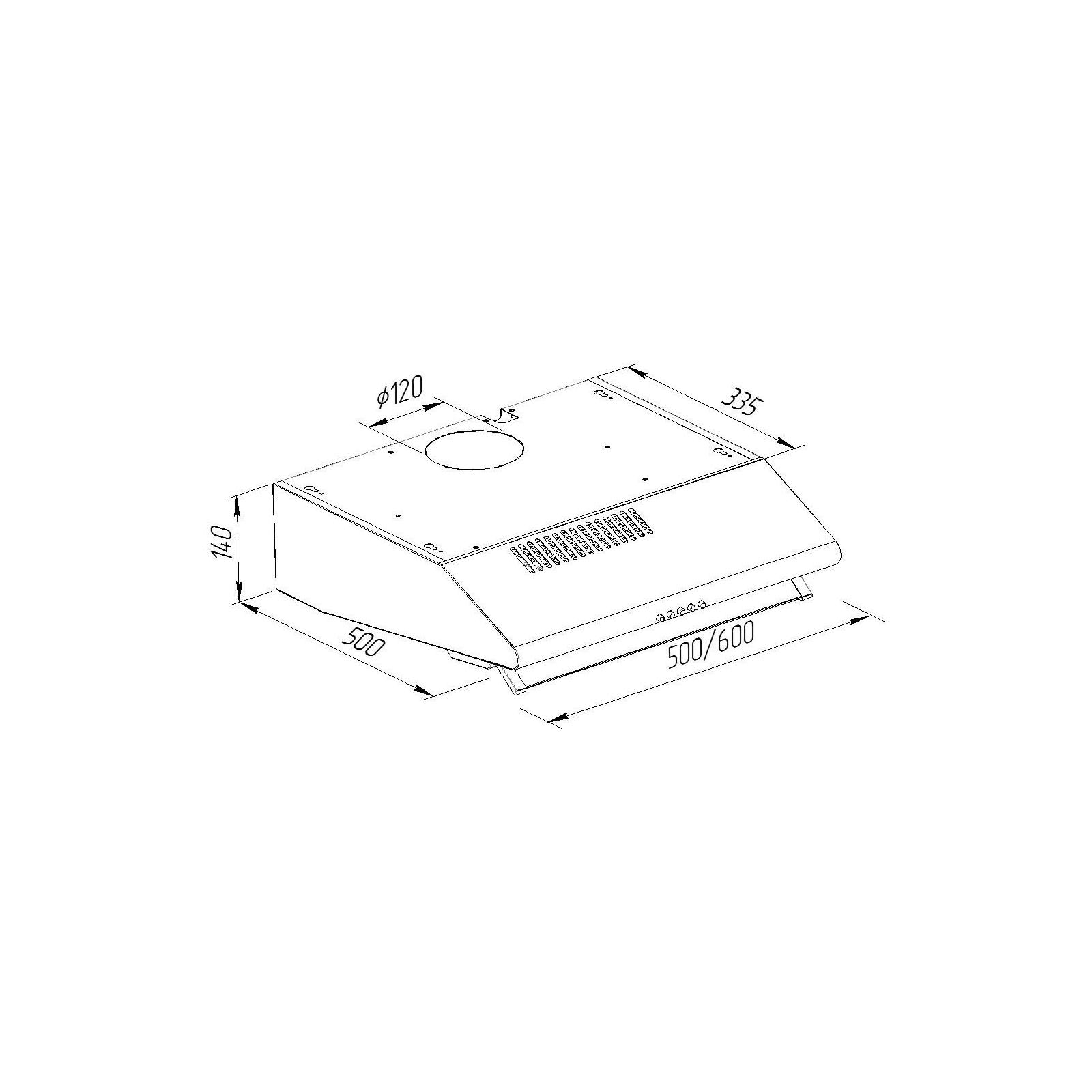 Вытяжка кухонная Pyramida MH 50 GR изображение 7
