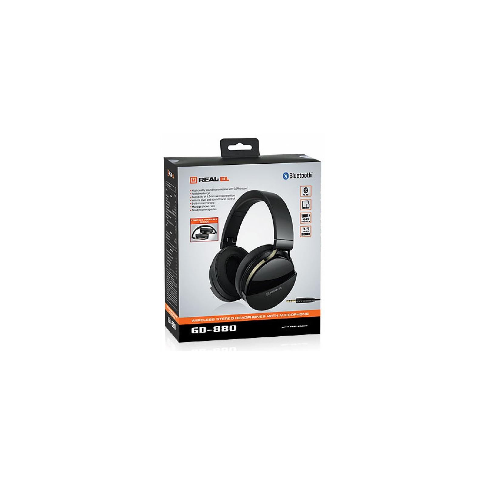 Навушники REAL-EL GD-880 Black зображення 12