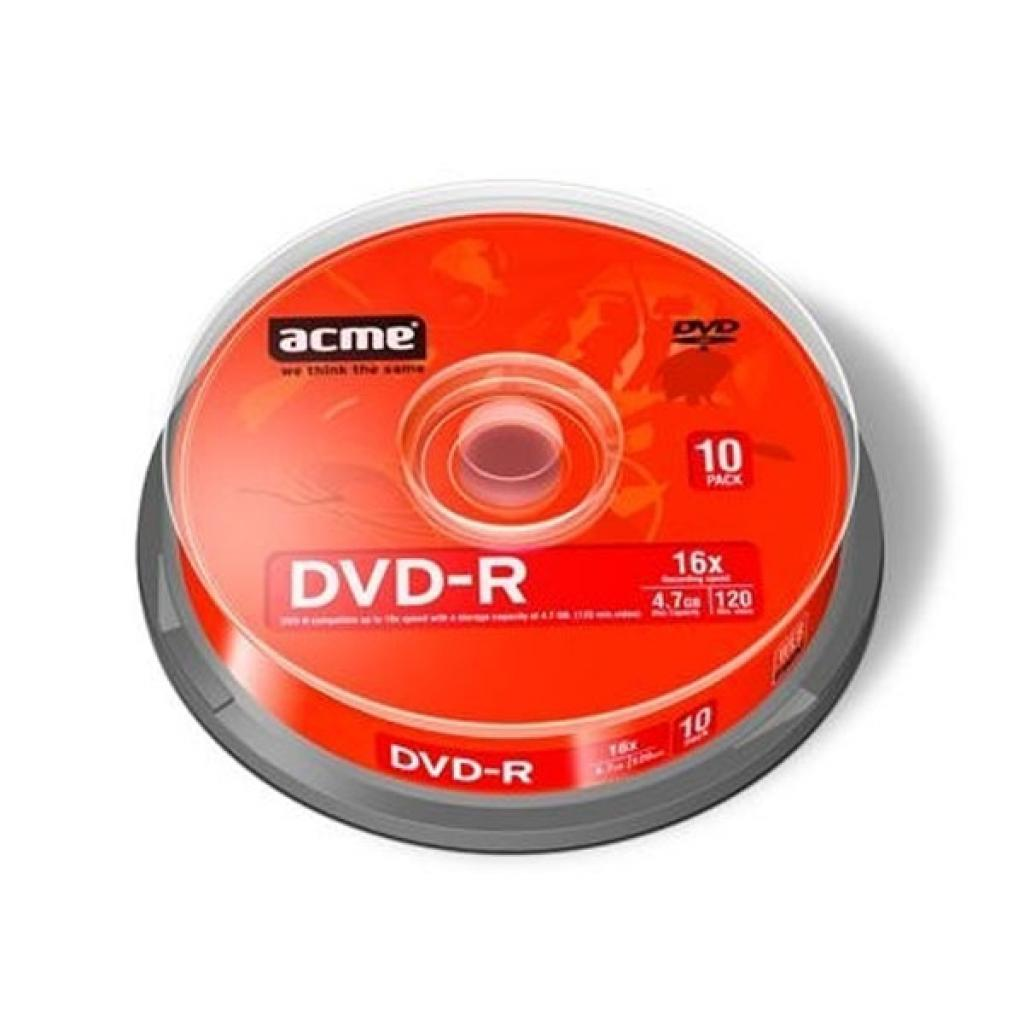Диск DVD ACME 4.7Gb 16x Cake box 10шт (858219/418421)