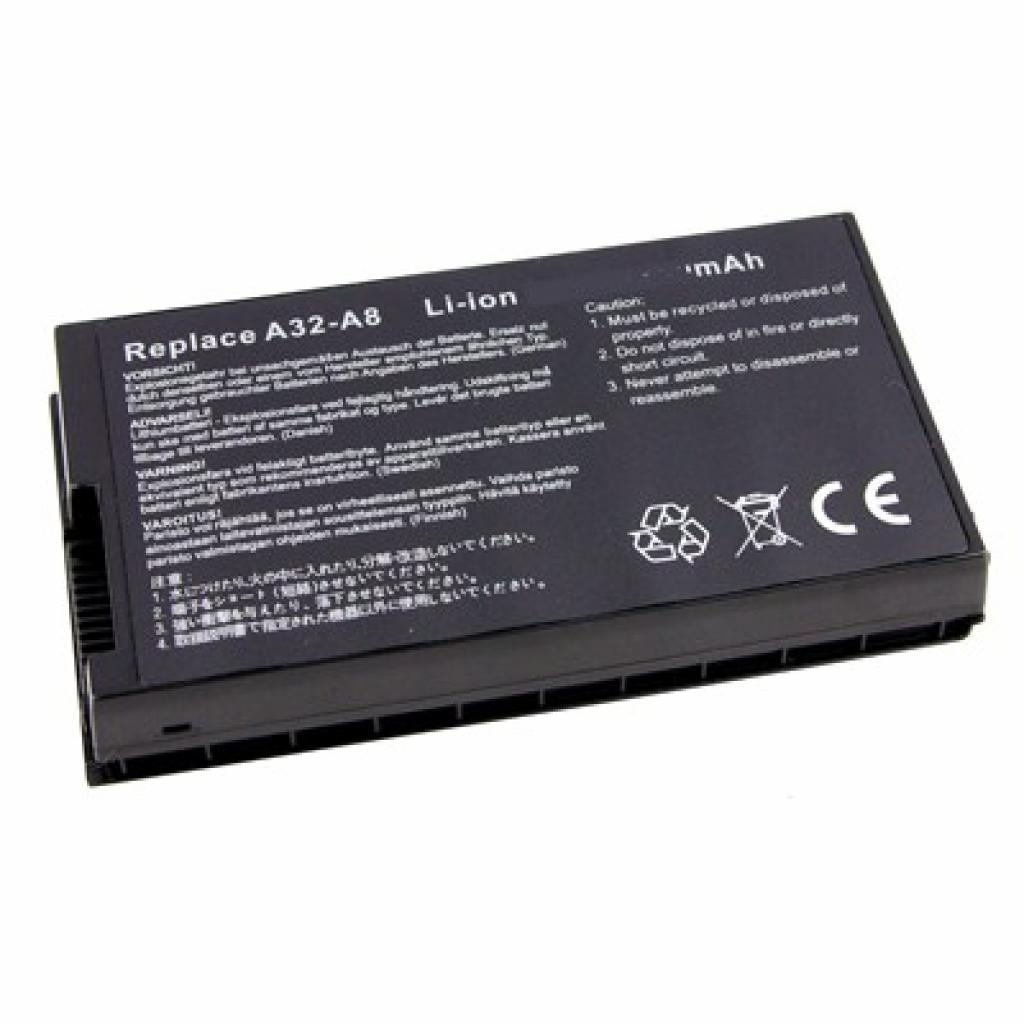 Аккумулятор для ноутбука ASUS A32-A8 (A32-A8 O 48)