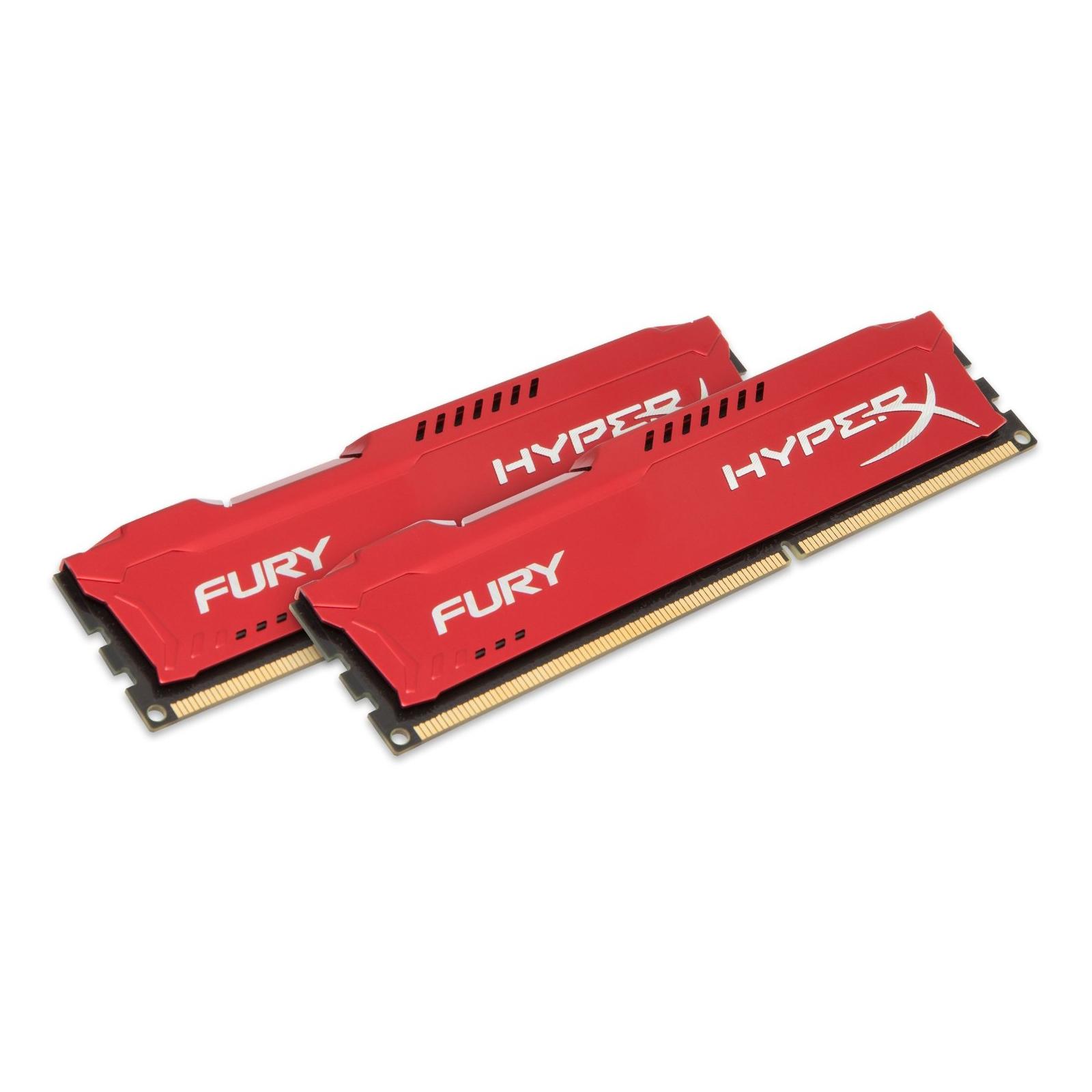 Модуль памяти для компьютера DDR3 16Gb (2x8GB) 1600 MHz HyperX Fury Red Kingston (HX316C10FRK2/16) изображение 2