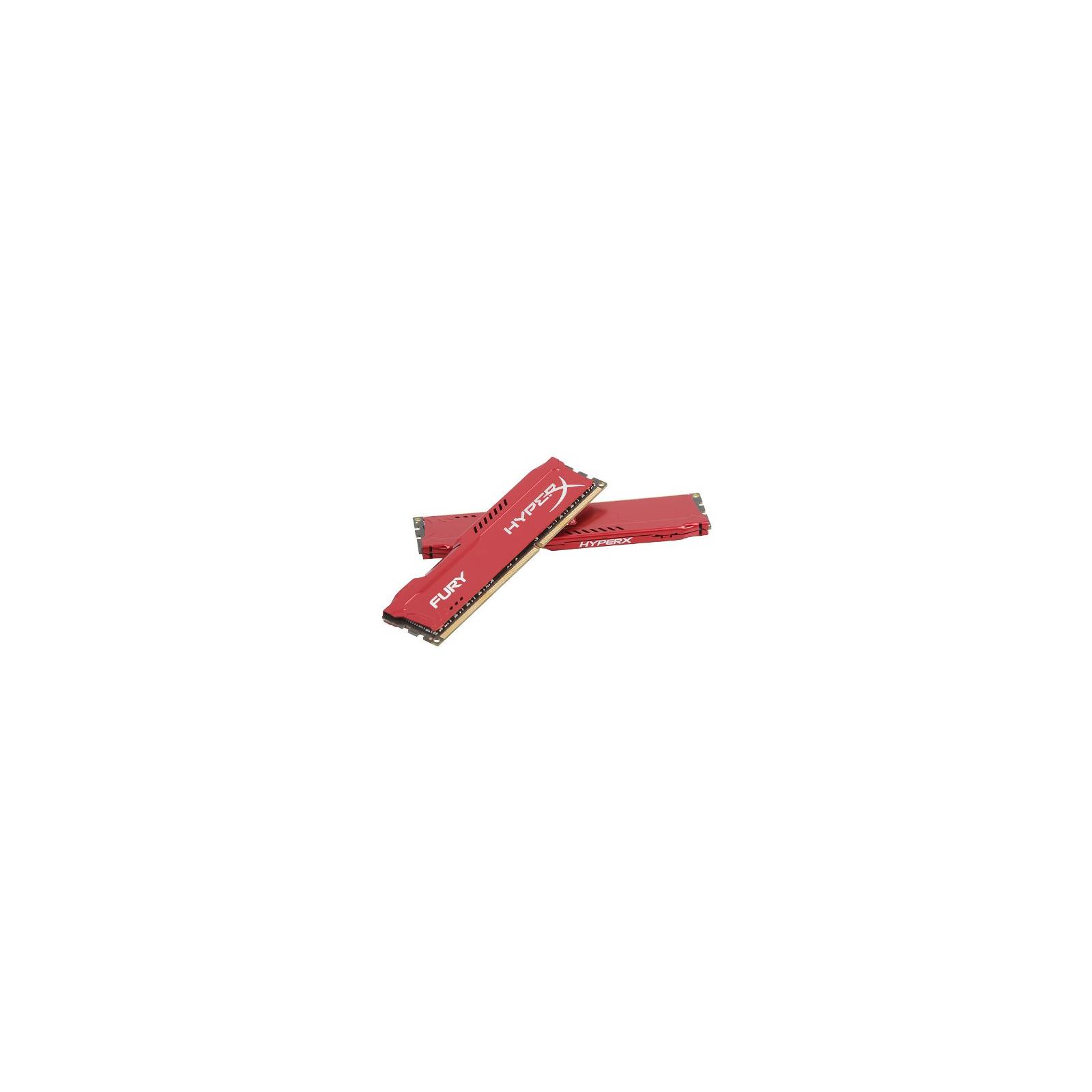 Модуль памяти для компьютера DDR3 16Gb (2x8GB) 1600 MHz HyperX Fury Red Kingston (HX316C10FRK2/16) изображение 4