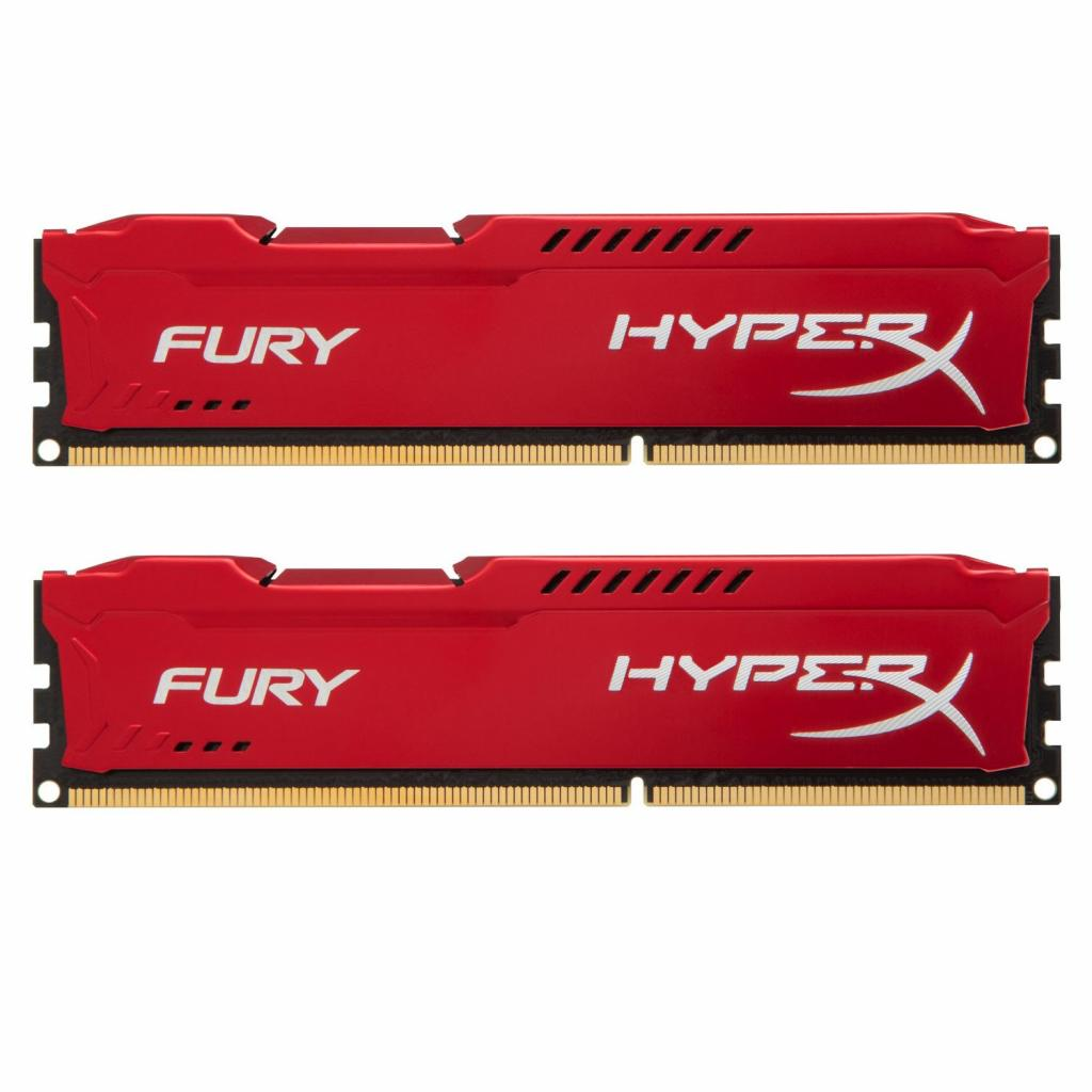Модуль памяти для компьютера DDR3 16Gb (2x8GB) 1600 MHz HyperX Fury Red Kingston (HX316C10FRK2/16)