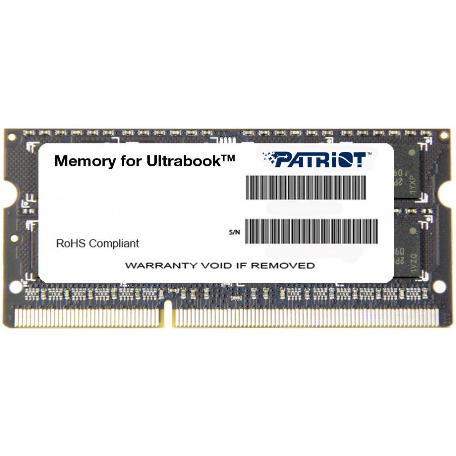 Модуль памяти для ноутбука SoDIMM DDR3L 8GB 1600 MHz Patriot (PSD38G1600L2S)