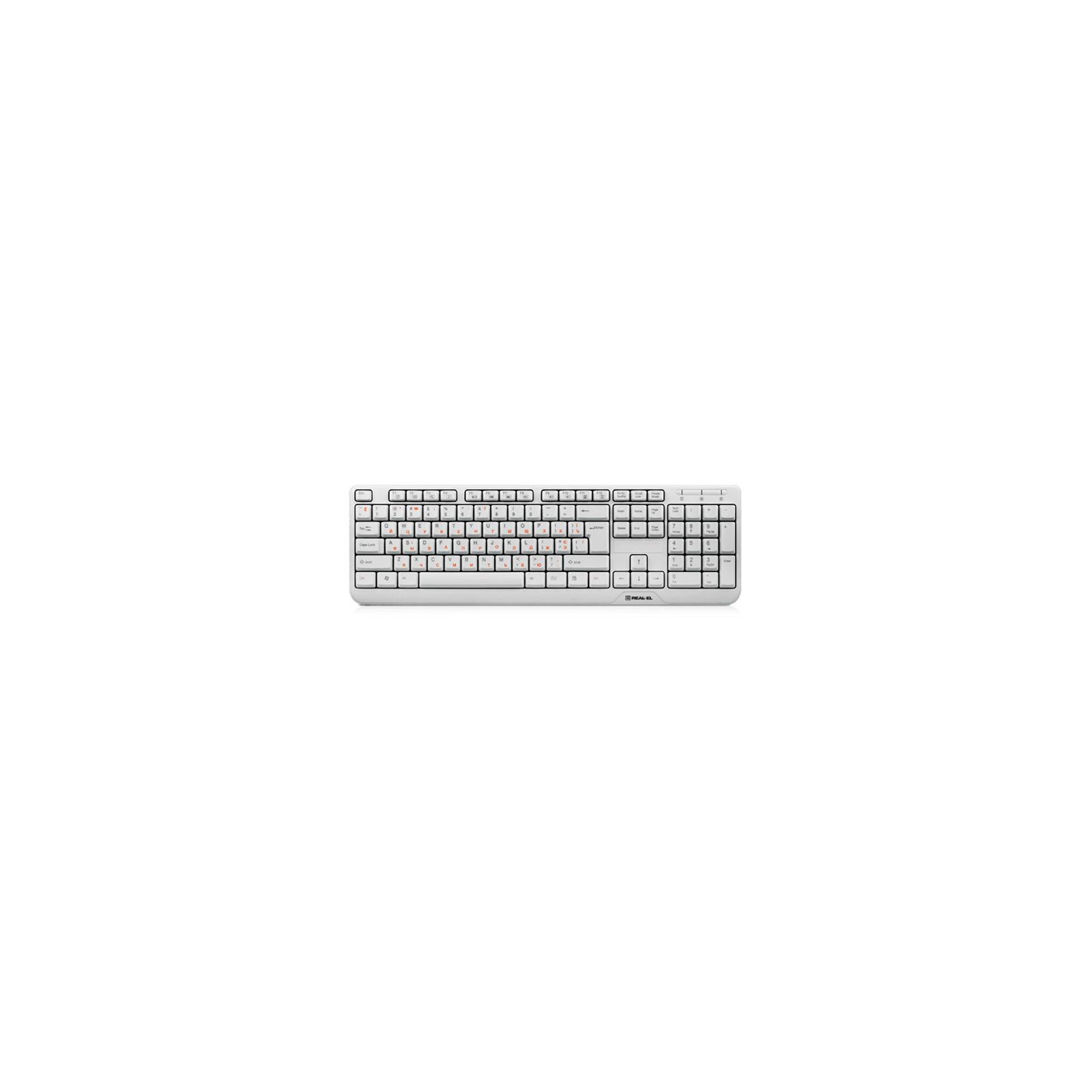 Клавиатура REAL-EL 500 Standard, USB, white