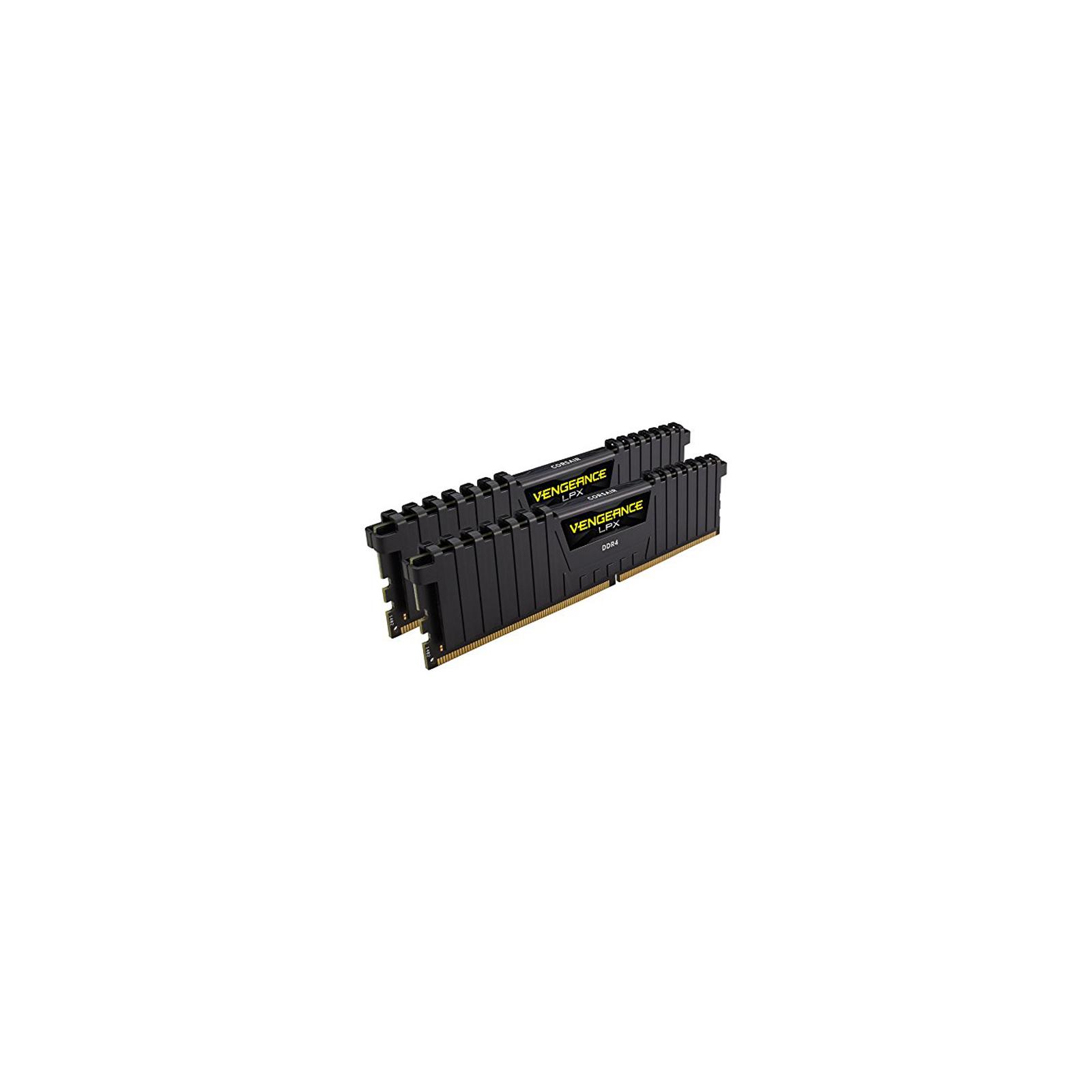 Модуль памяти для компьютера DDR4 16GB (2x8GB) 2666 MHz Vengeance LPX Black CORSAIR (CMK16GX4M2A2666C16) изображение 3