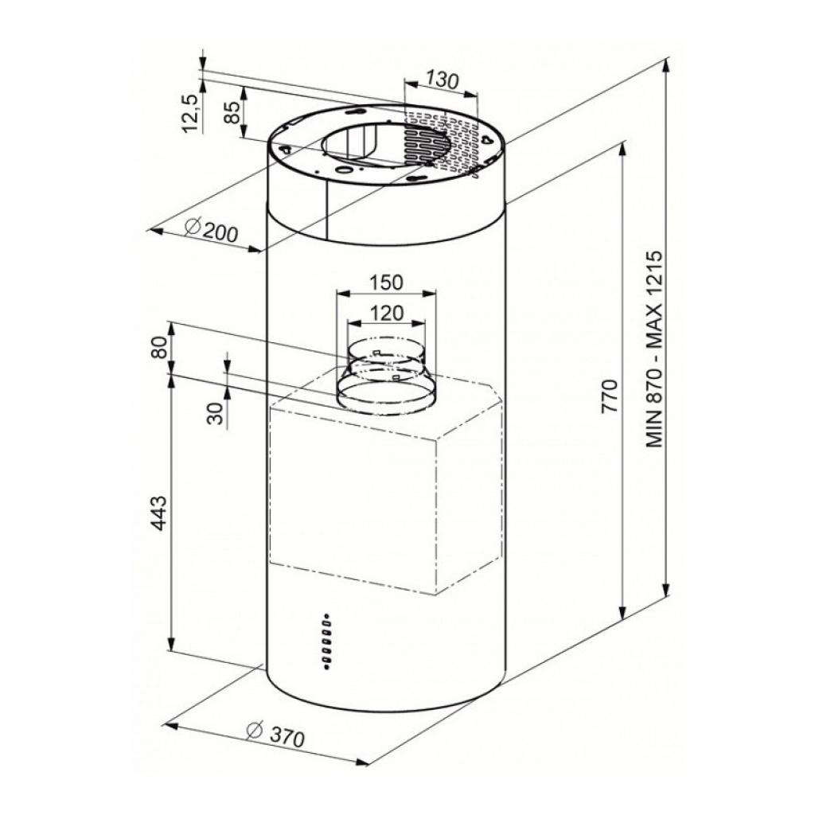 Вытяжка кухонная FABER ISOLA Gloss EG8 ELN WH A37 изображение 2