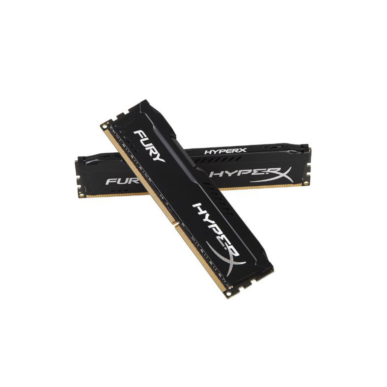 Модуль памяти для компьютера DDR4 32GB (2x16GB) 3466 MHz HyperX FURY Black HyperX (Kingston Fury) (HX434C19FBK2/32) изображение 3