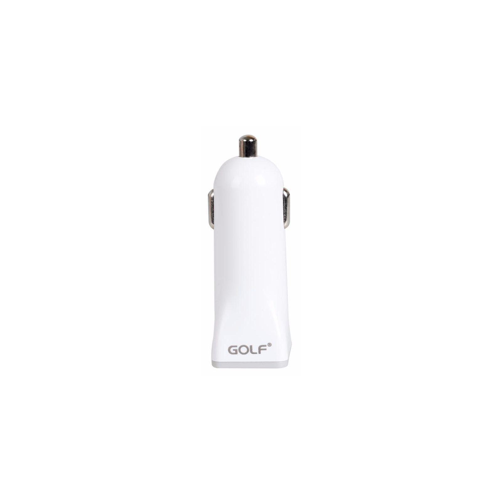 Зарядное устройство Golf GF-C1 Car charger + Micro cable 1USB 1A White (F_45771) изображение 2
