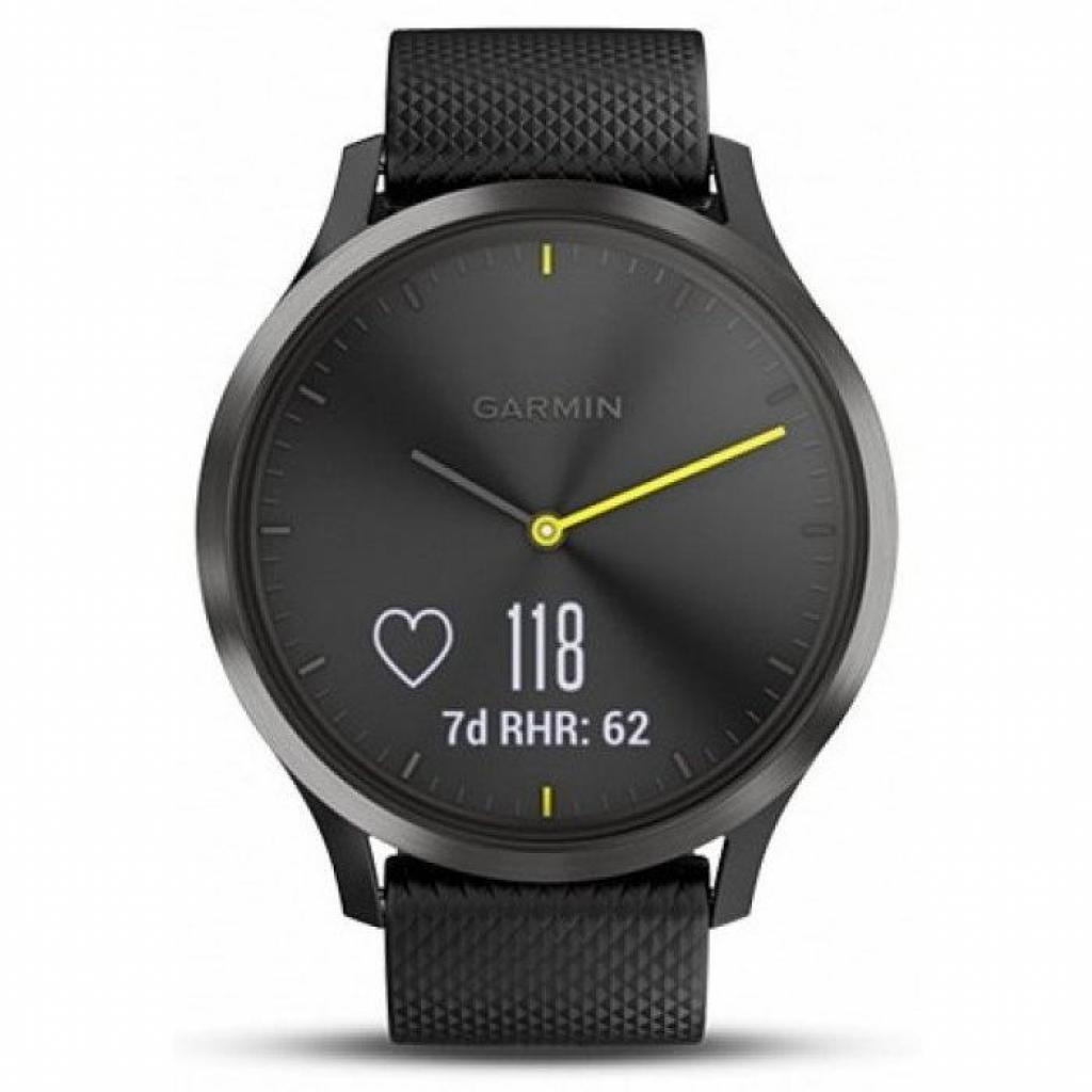 Смарт-часы Garmin Vivomove HR Sport Black/ Black Large (010-01850-A1) изображение 2