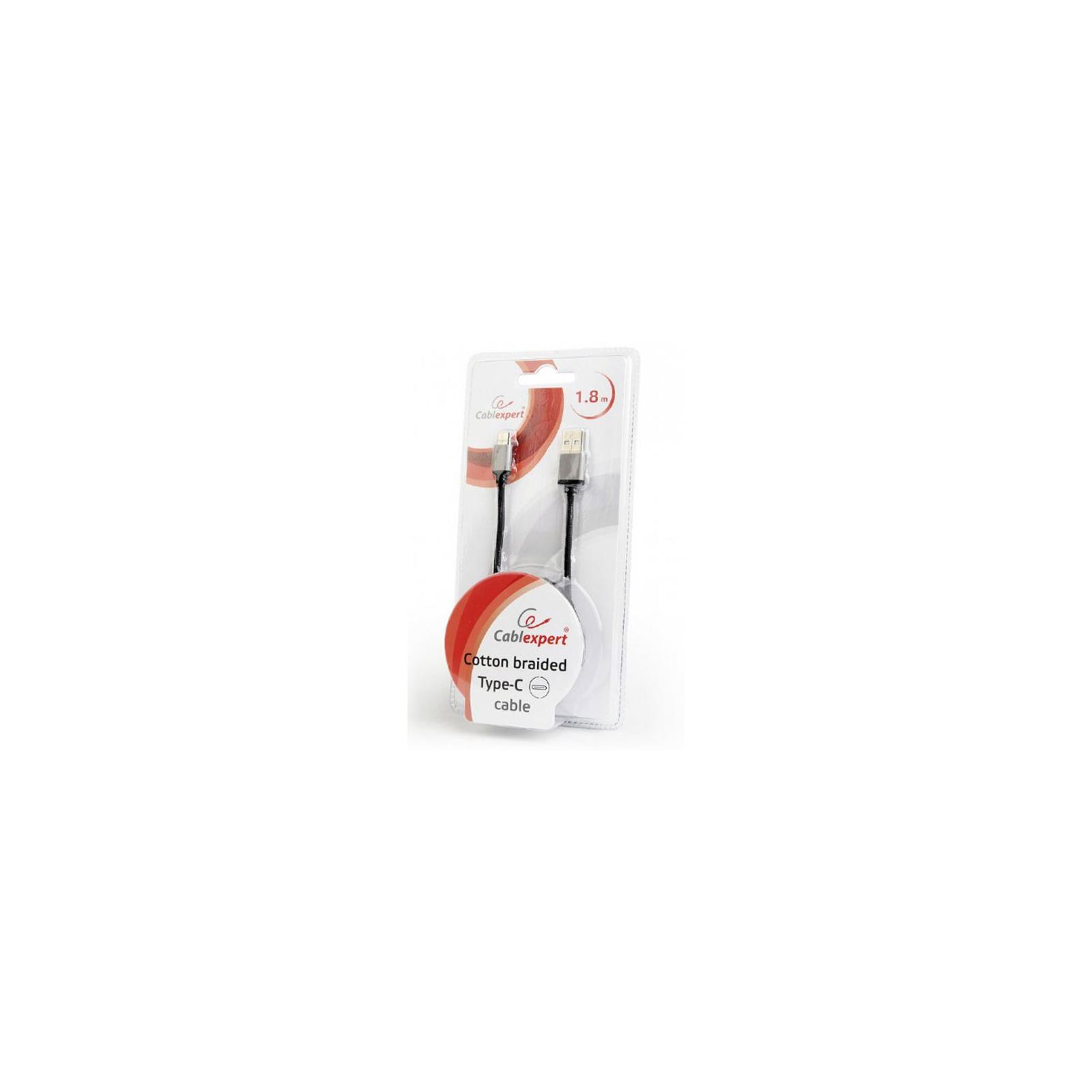 Дата кабель USB 2.0 AM to Type-C 1.0m Cablexpert (CCB-mUSB2B-AMCM-6-G) изображение 2
