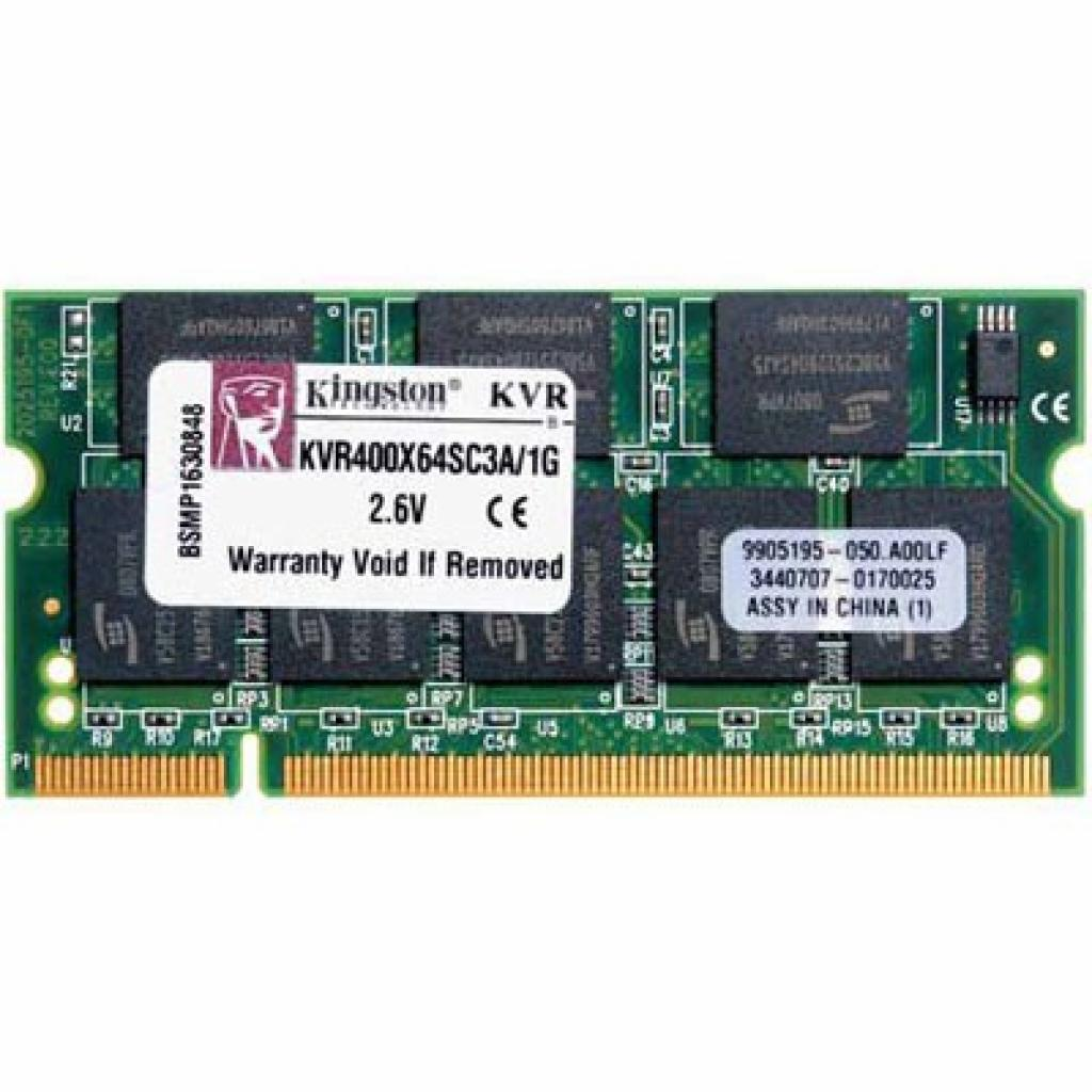 Модуль памяти для ноутбука SoDIMM DDR 1GB 400 MHz Kingston (KVR400X64SC3A/1G)
