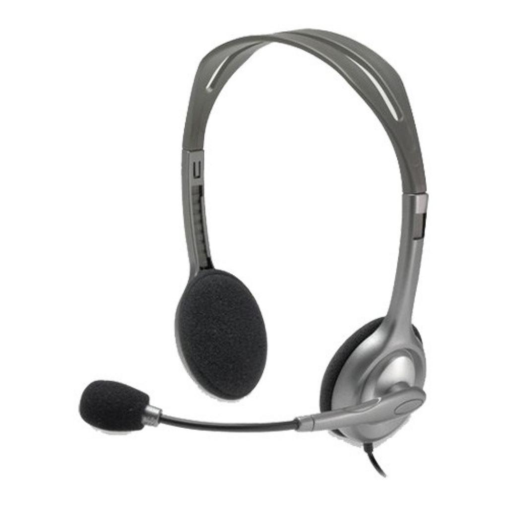 Наушники Logitech H110 Stereo Headset with 2*3pin jacks (981-000271)