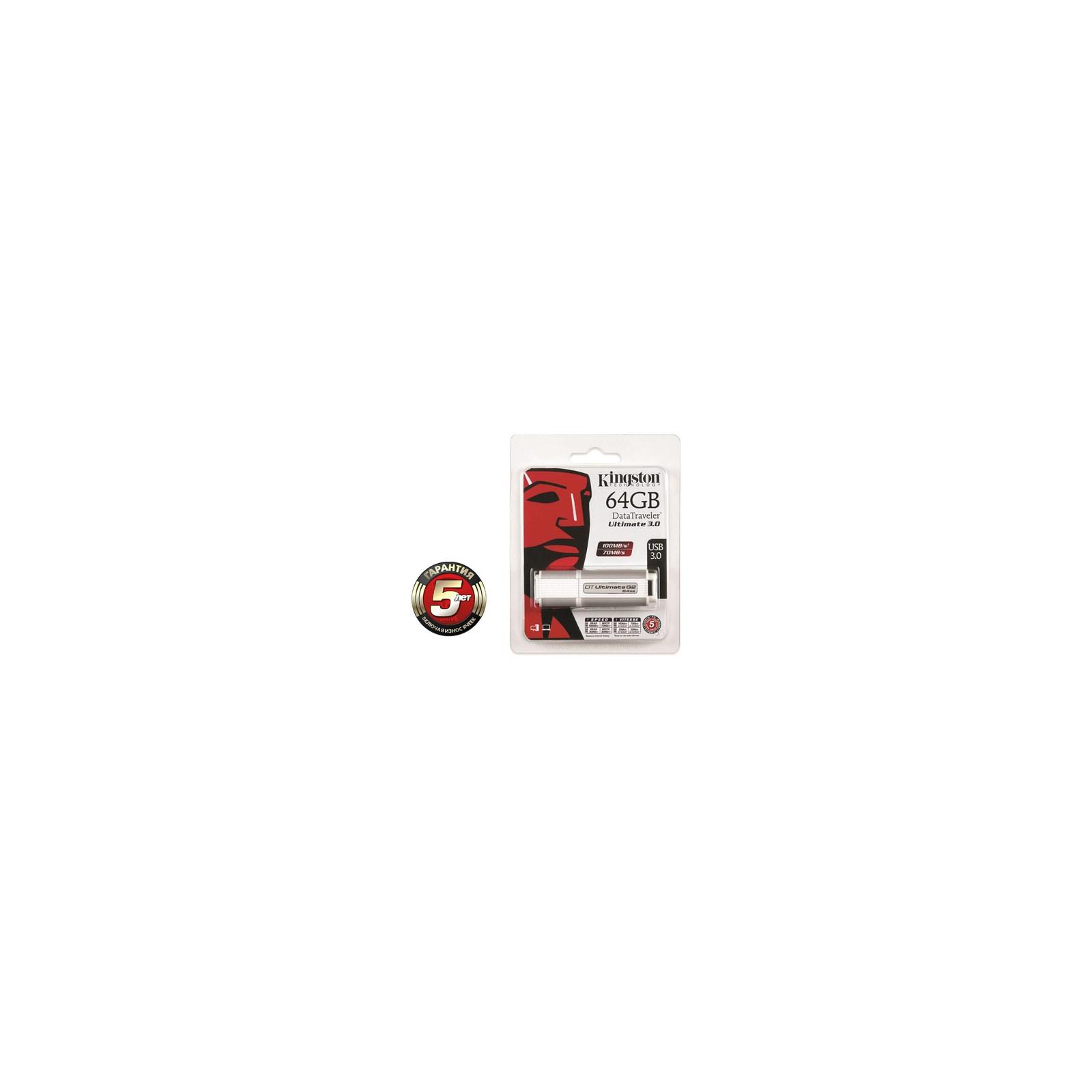 USB флеш накопитель Kingston 64Gb DataTraveler Ultimate (DTU30G2/64GB) изображение 3
