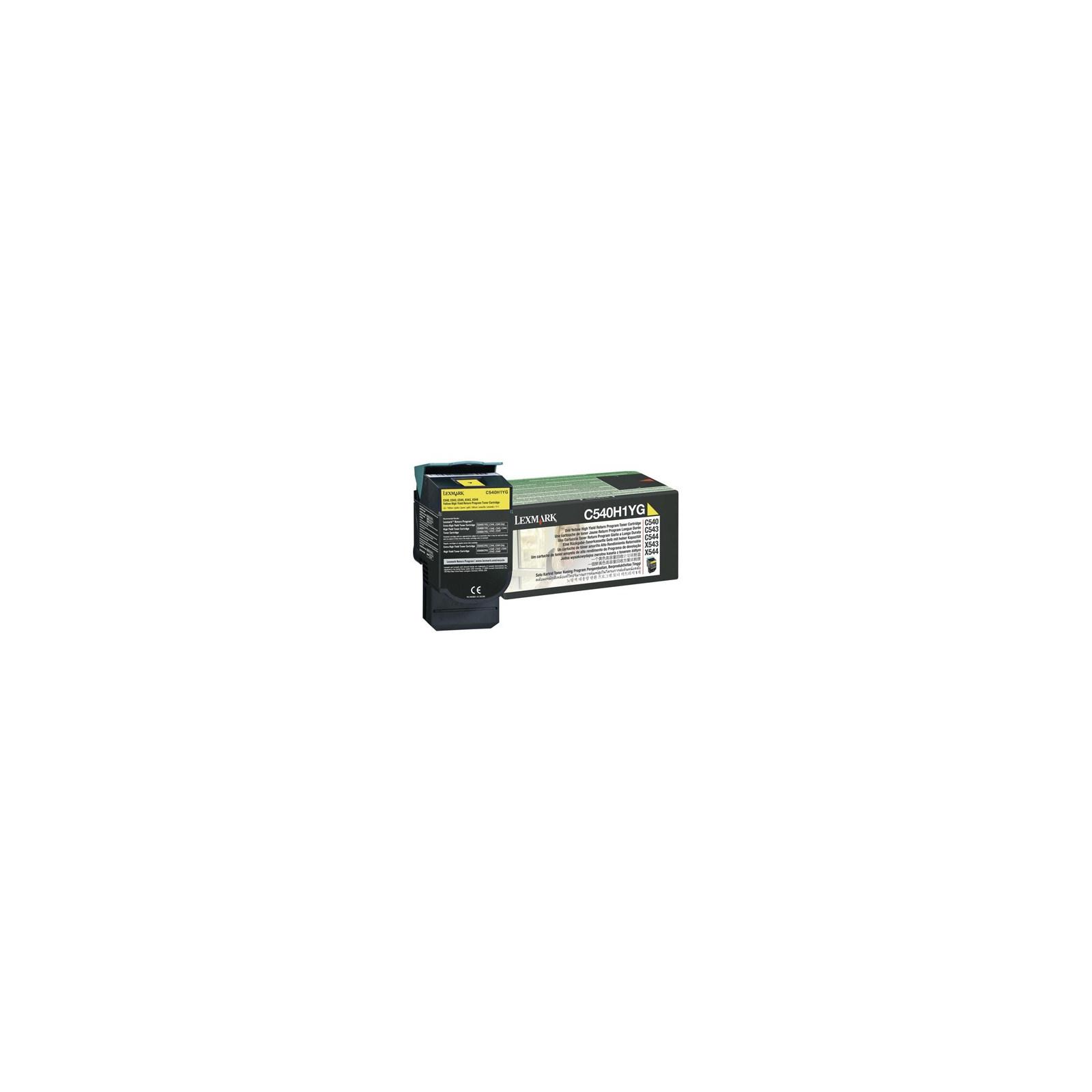 Картридж LEXMARK C54x/X54x Yellow 2k (C540H1YG)