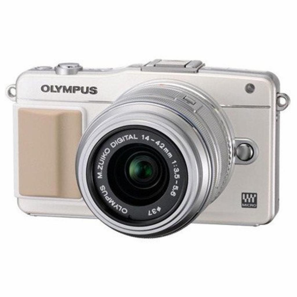 Цифровой фотоаппарат OLYMPUS PEN E-PM2 14-42 mm kit Flash Air white/silver (V206021WE010)
