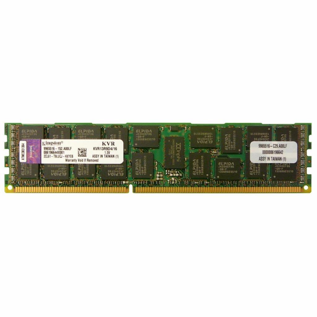 Модуль памяти для сервера DDR3 16GB Kingston (KVR13R9D4/16)