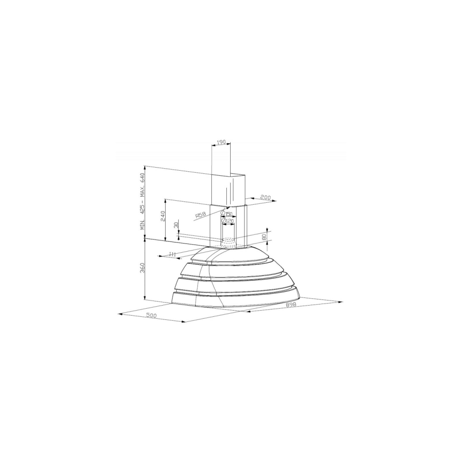 Вытяжка кухонная Faber BRIO GM A 90 изображение 2