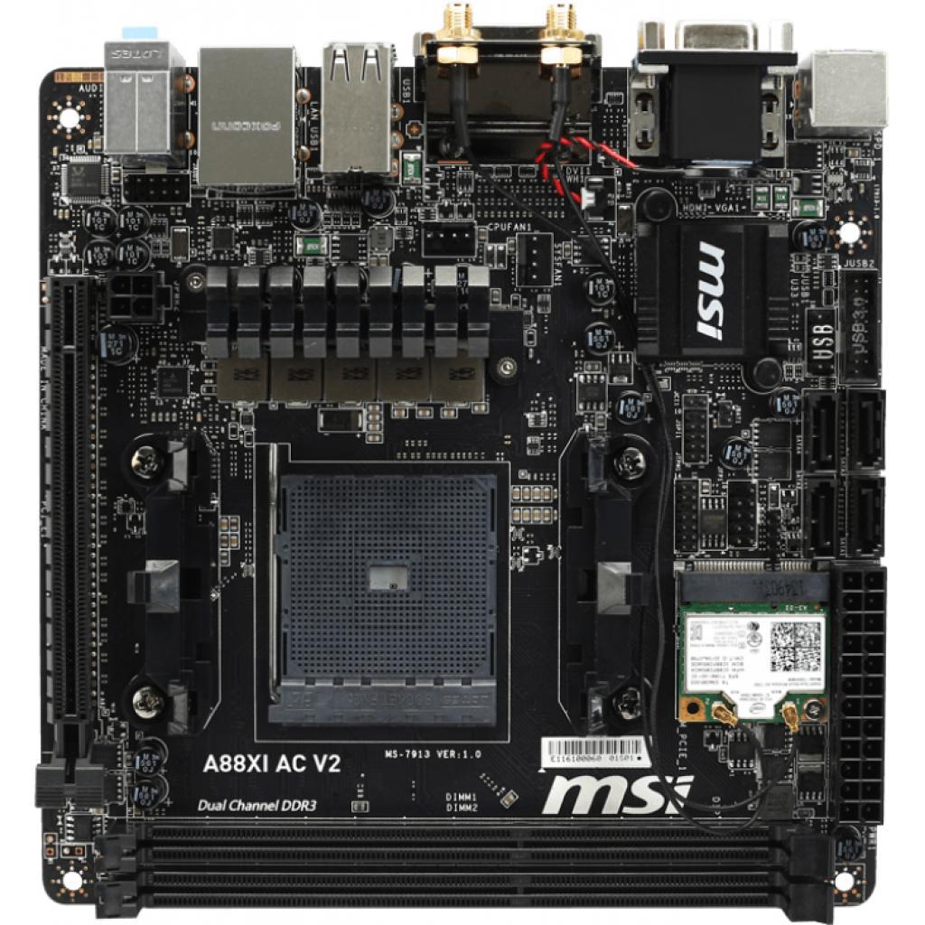 Материнская плата MSI A88XI AC V2 изображение 2