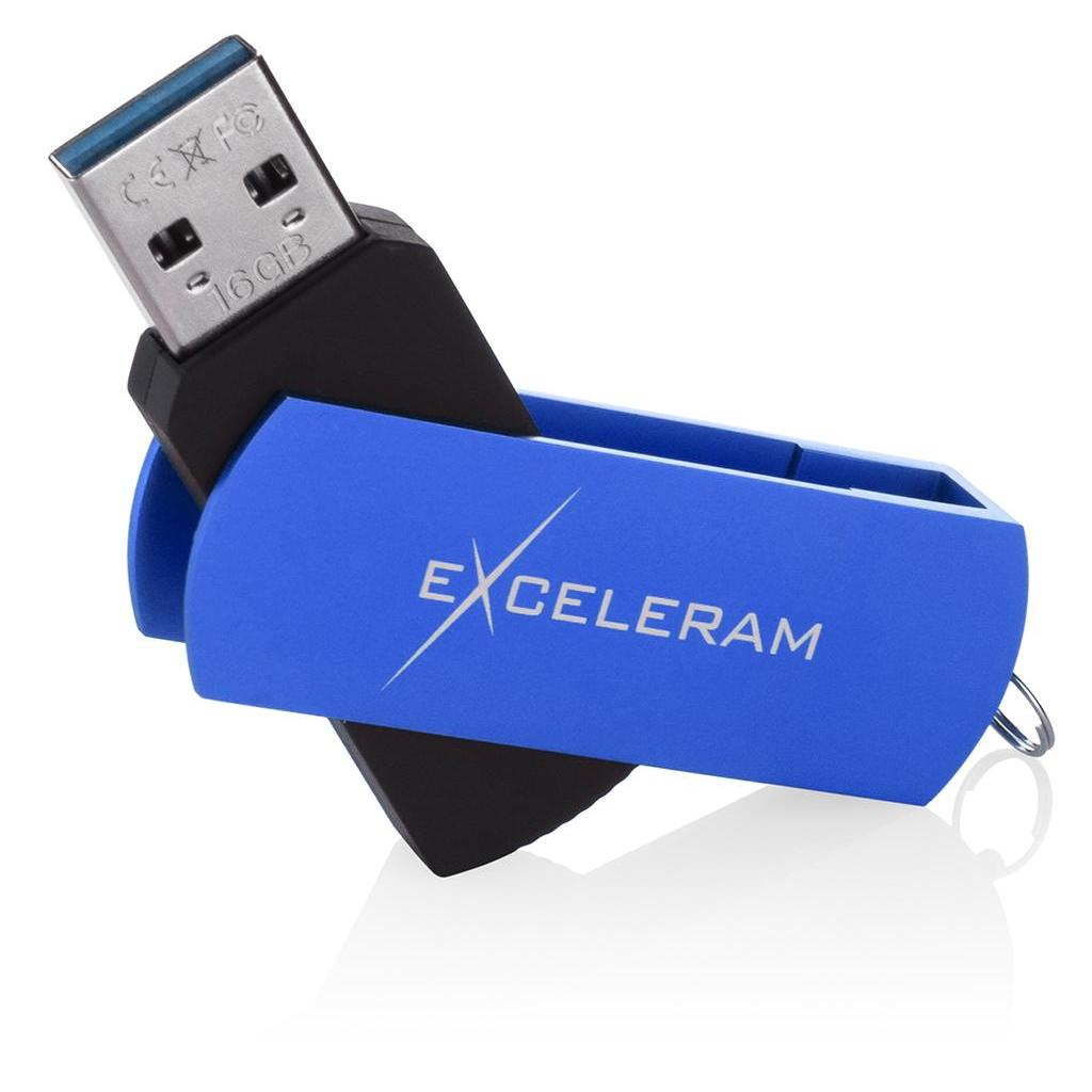 USB флеш накопитель eXceleram 32GB P2 Series White/Black USB 3.1 Gen 1 (EXP2U3WHB32) изображение 3