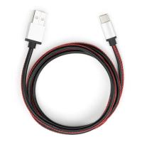 Дата кабель USB 2.0 AM to Type-C 1m pu leather black Vinga (VCPDCTCLS1BK)