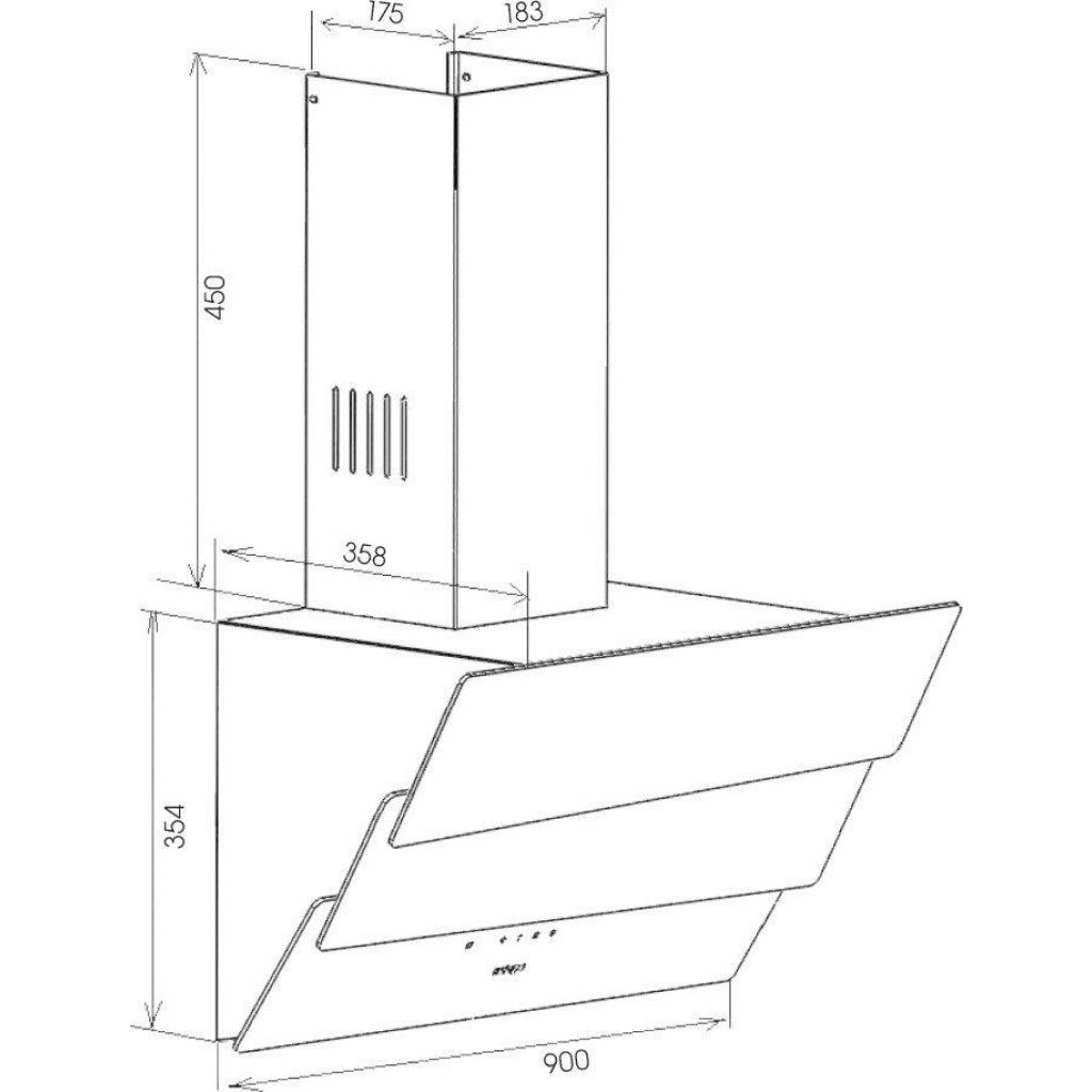 Вытяжка кухонная ZIRTAL FALCON 90 WH изображение 10
