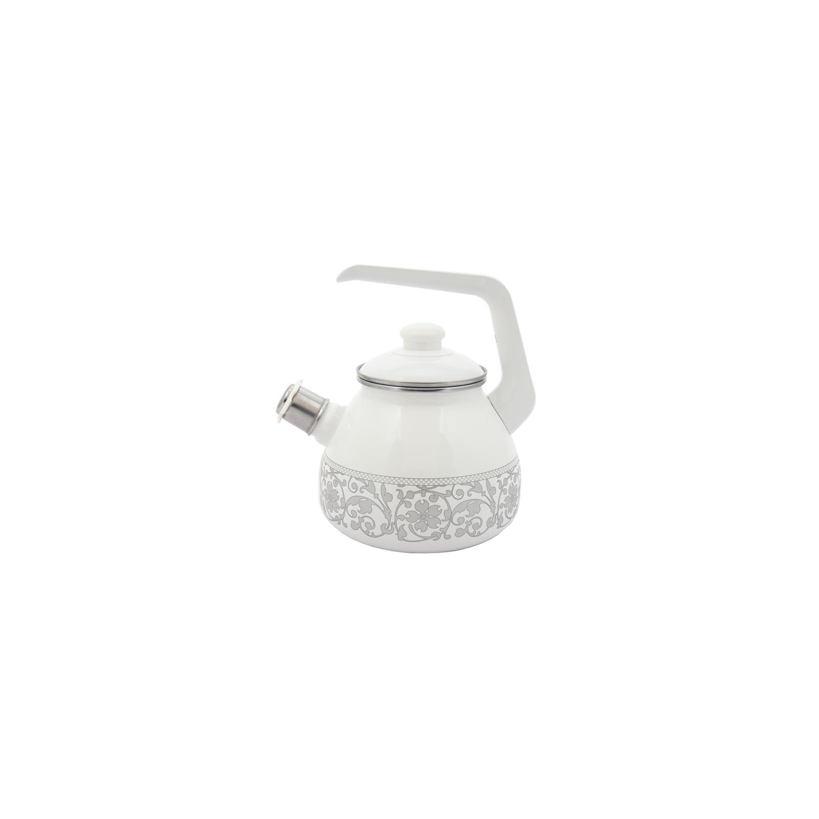 Чайник Infinity Вензель со свистком 3 л White (6435564)