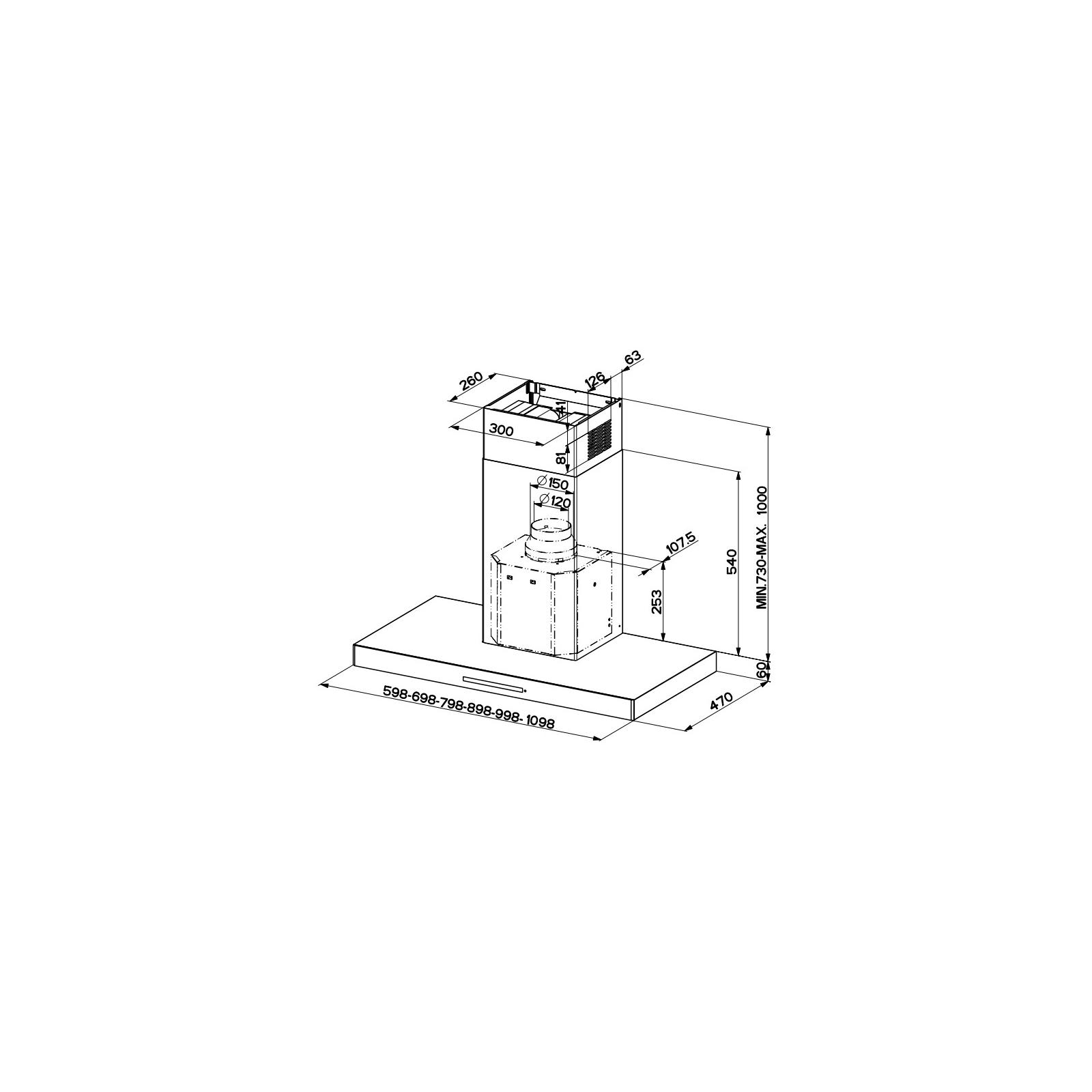 Вытяжка кухонная Faber STILO/SP EV8 X A90 (STILO/SPEV8XA90) изображение 2